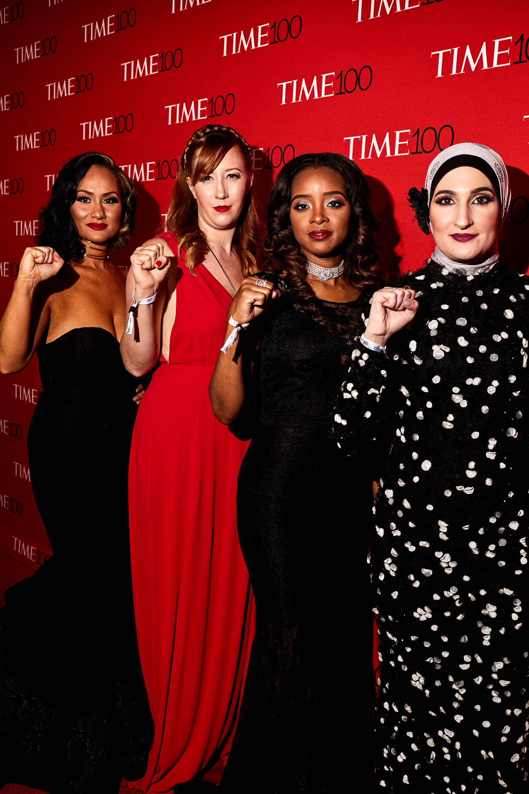 Organizers of the Women's March at the Time 100 Gala at Jazz at Lincoln Center on April 25, 2017 in New York City.