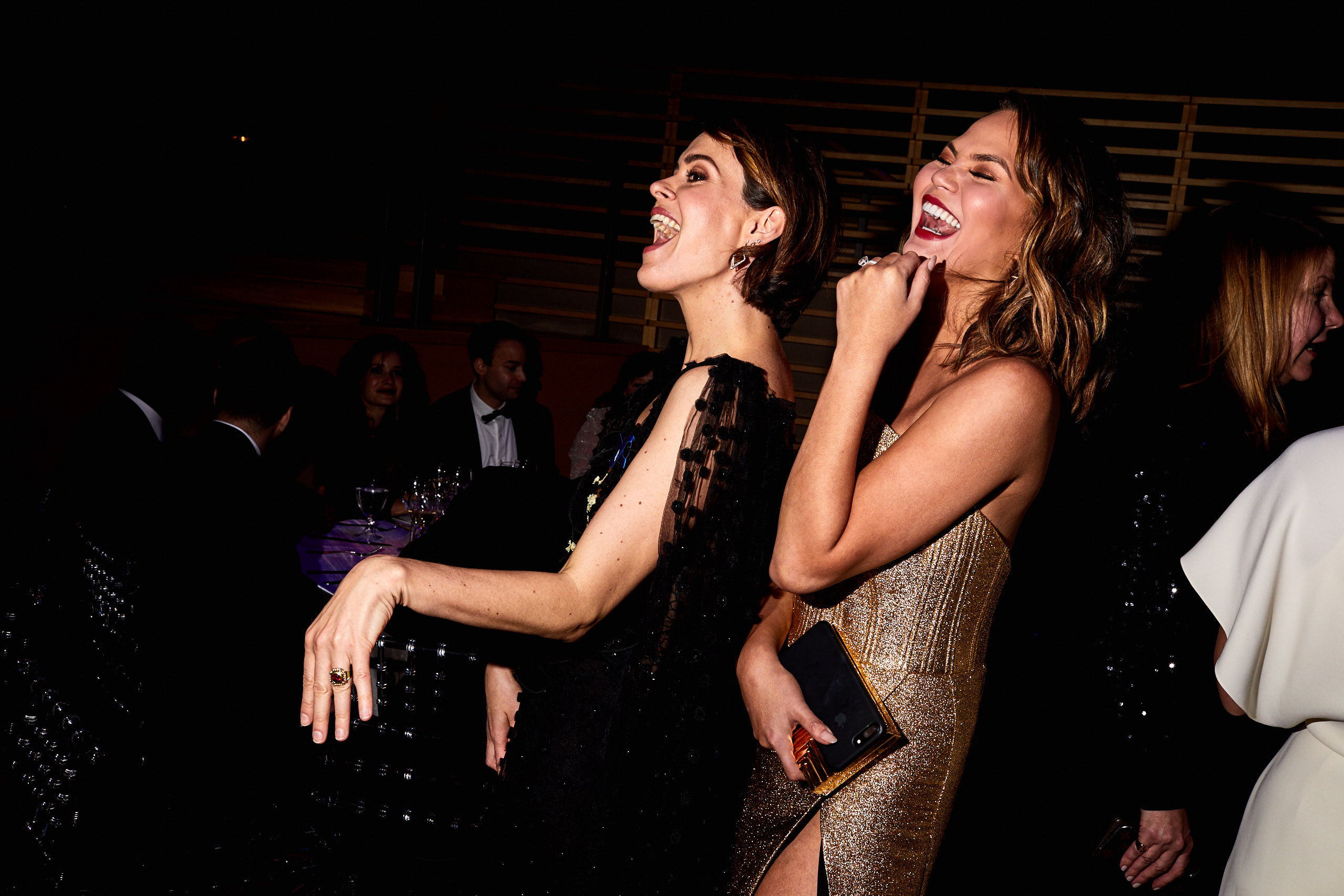 Sarah Paulson and Chrissy Teigen at the Time 100 Gala at Jazz at Lincoln Center on April 25, 2017 in New York City.