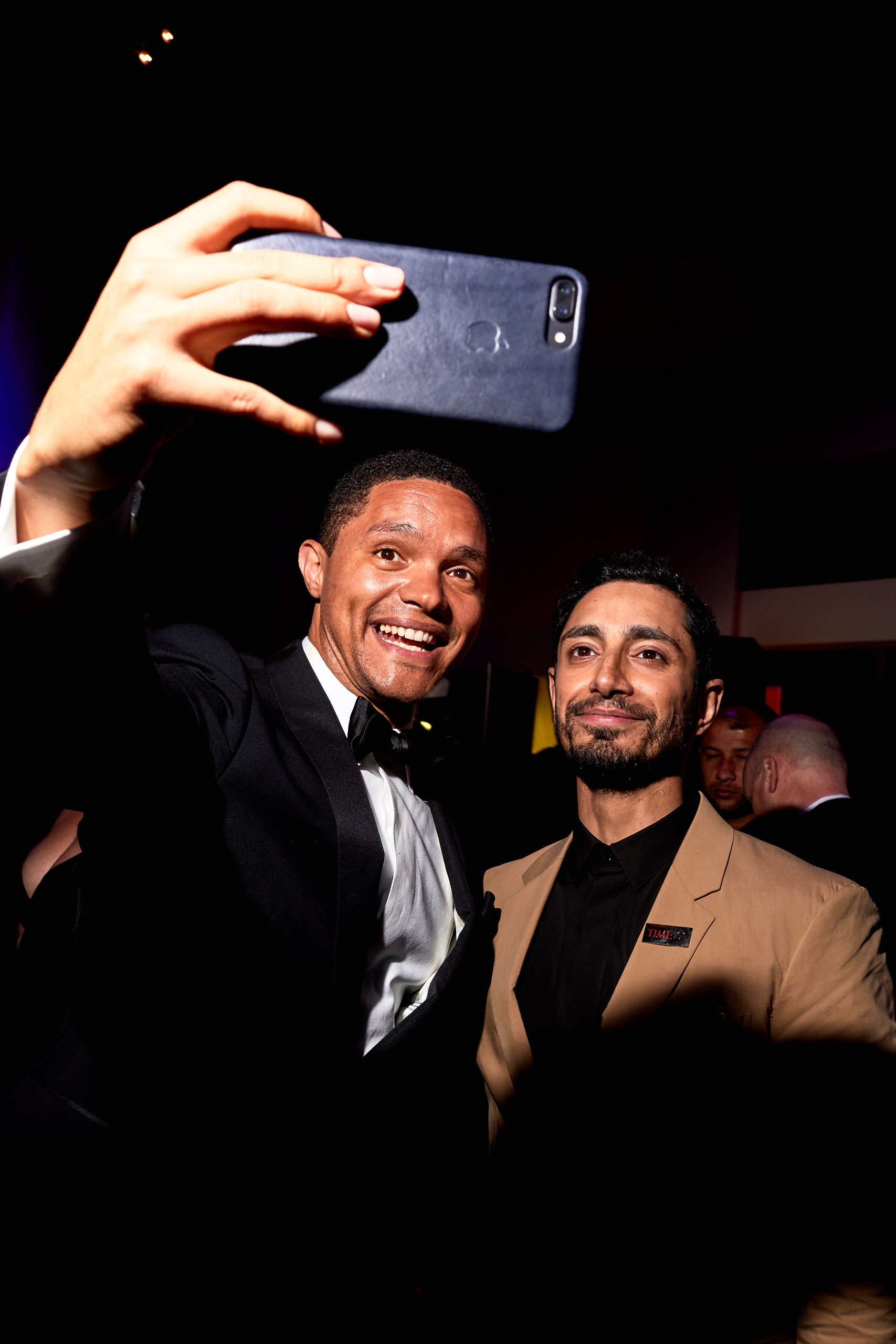 Trevor Noah and Riz Ahmed take a selfie at the Time 100 Gala at Jazz at Lincoln Center on April 25, 2017 in New York City.