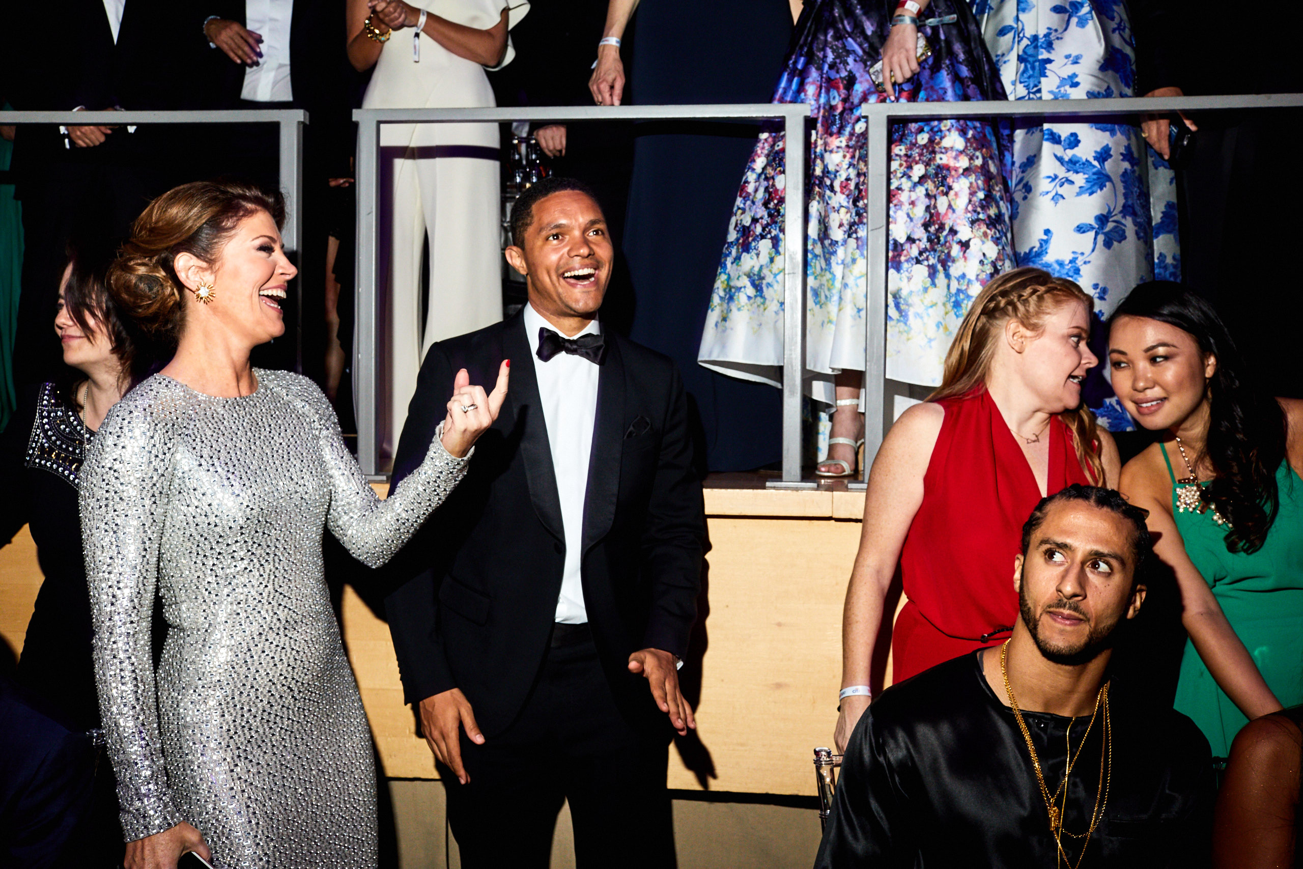 Trevor Noah (center), and Colin Kaepernick (right) at the Time 100 Gala at Jazz at Lincoln Center on April 25, 2017 in New York City.