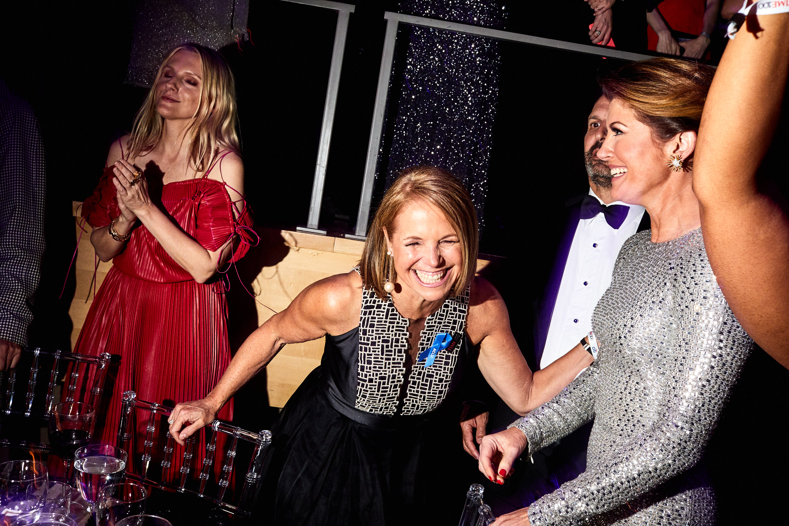 Katie Couric (middle) at the Time 100 Gala at Jazz at Lincoln Center on April 25, 2017 in New York City.