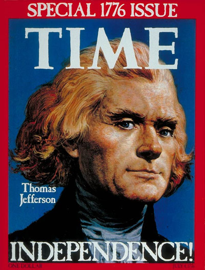 TIME asked Illustrator Louis Glanzman to use Charles Willson Peale's 1791 portrait as a model for the cover of the July 4, 1976, issue.