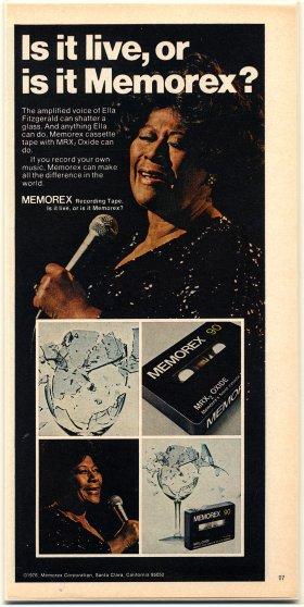 Ella Fitzgerald Memorex ad, circa 1975-1976.