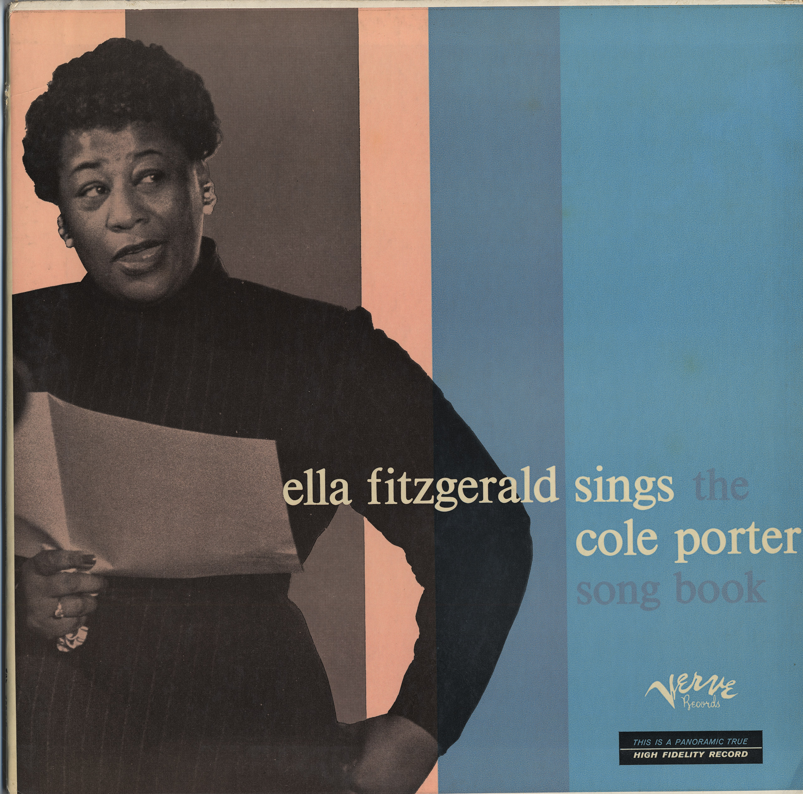 LP Cover Ella Fitzgerald Sings the Cole Porter Songbook, c. 1956: This became the first in Fitzgerald's series of nine Songbook recordings.