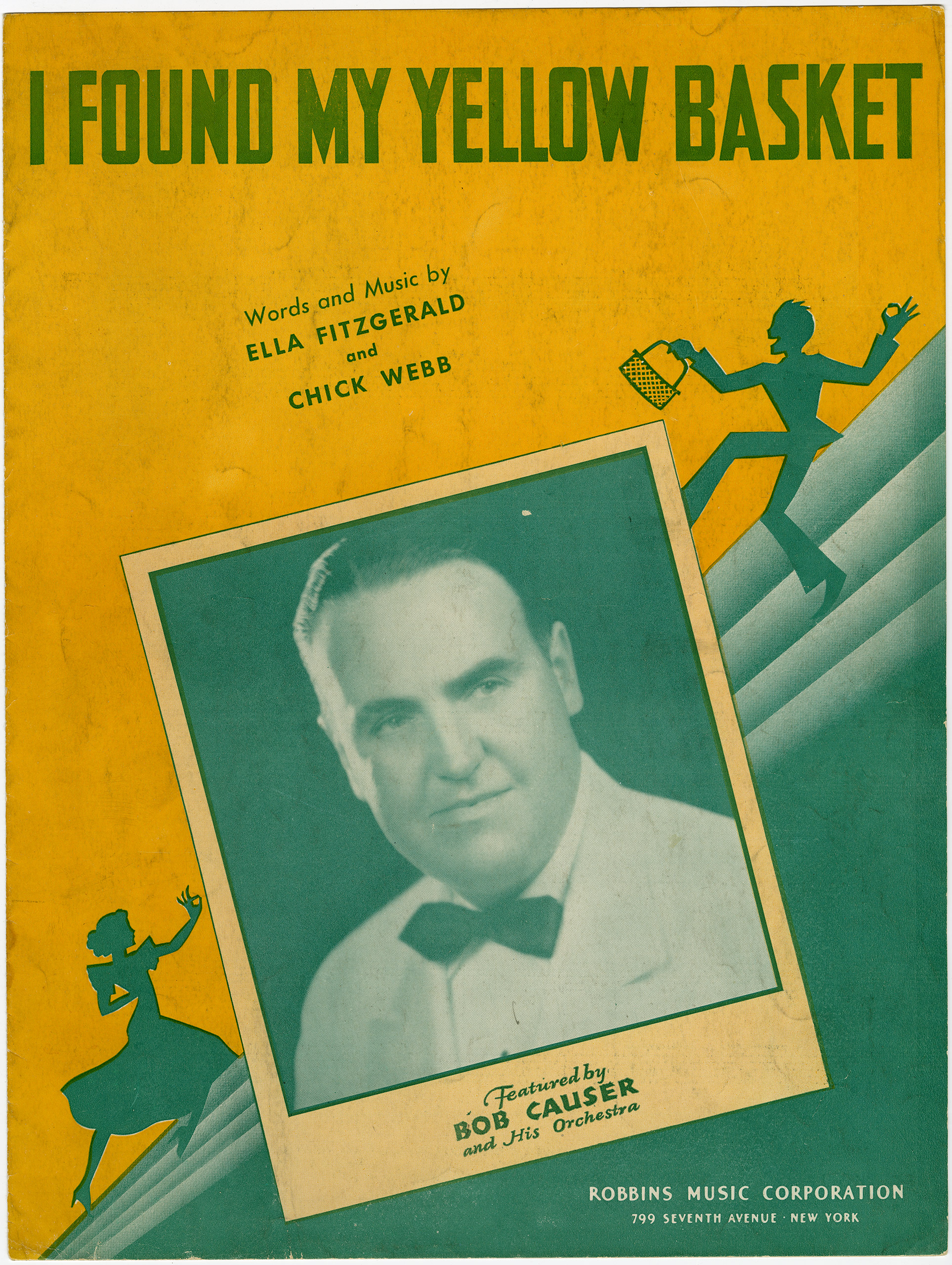 """Sheet music I Found My Yellow Basket, c. 1939:  An """"answer song"""" to A-Tisket, A-Tasket, whose lyrics include the line """"I lost my yellow basket."""""""