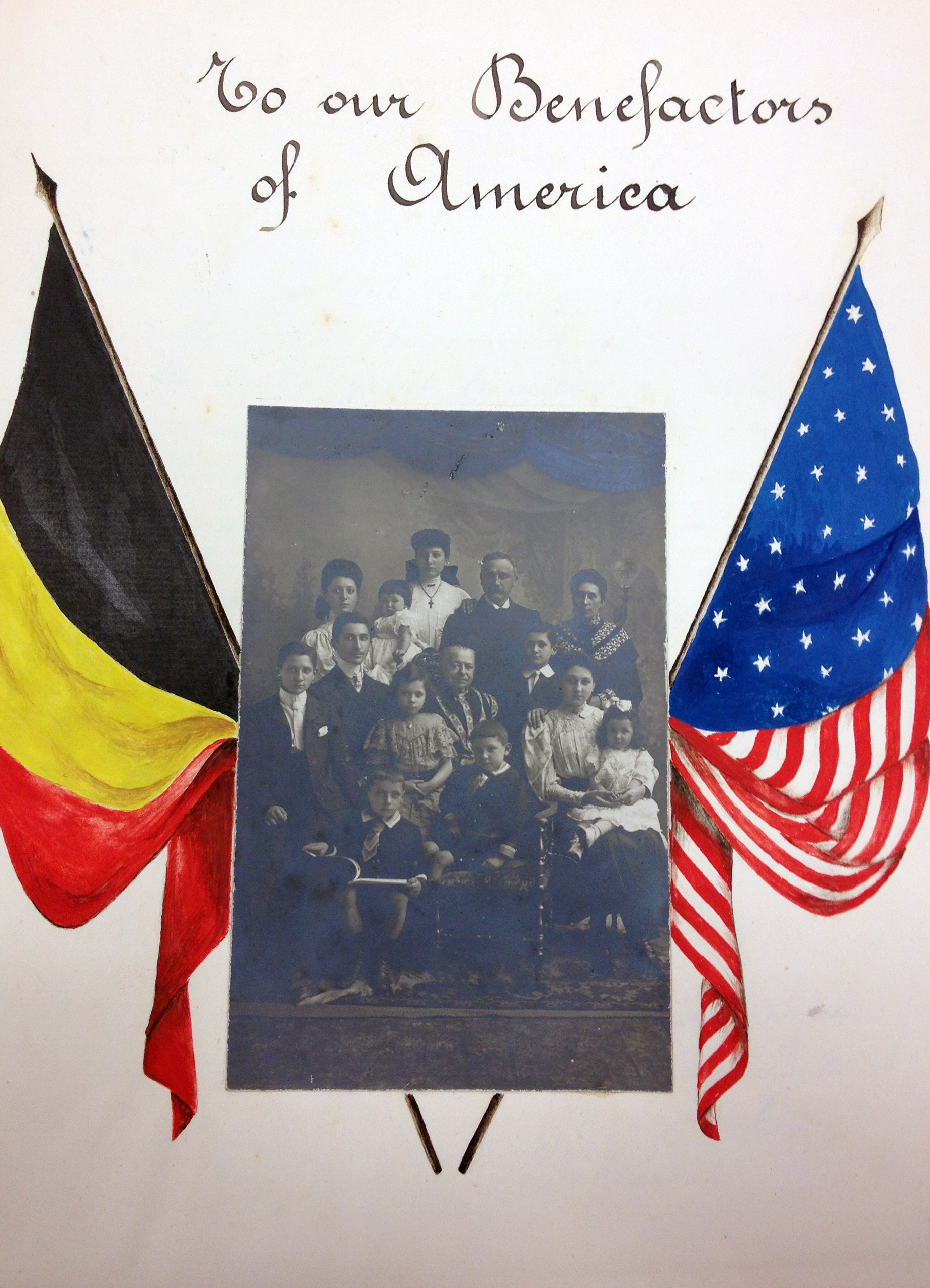 Thank you letters written to the U.S. from Belgian students and teachers.