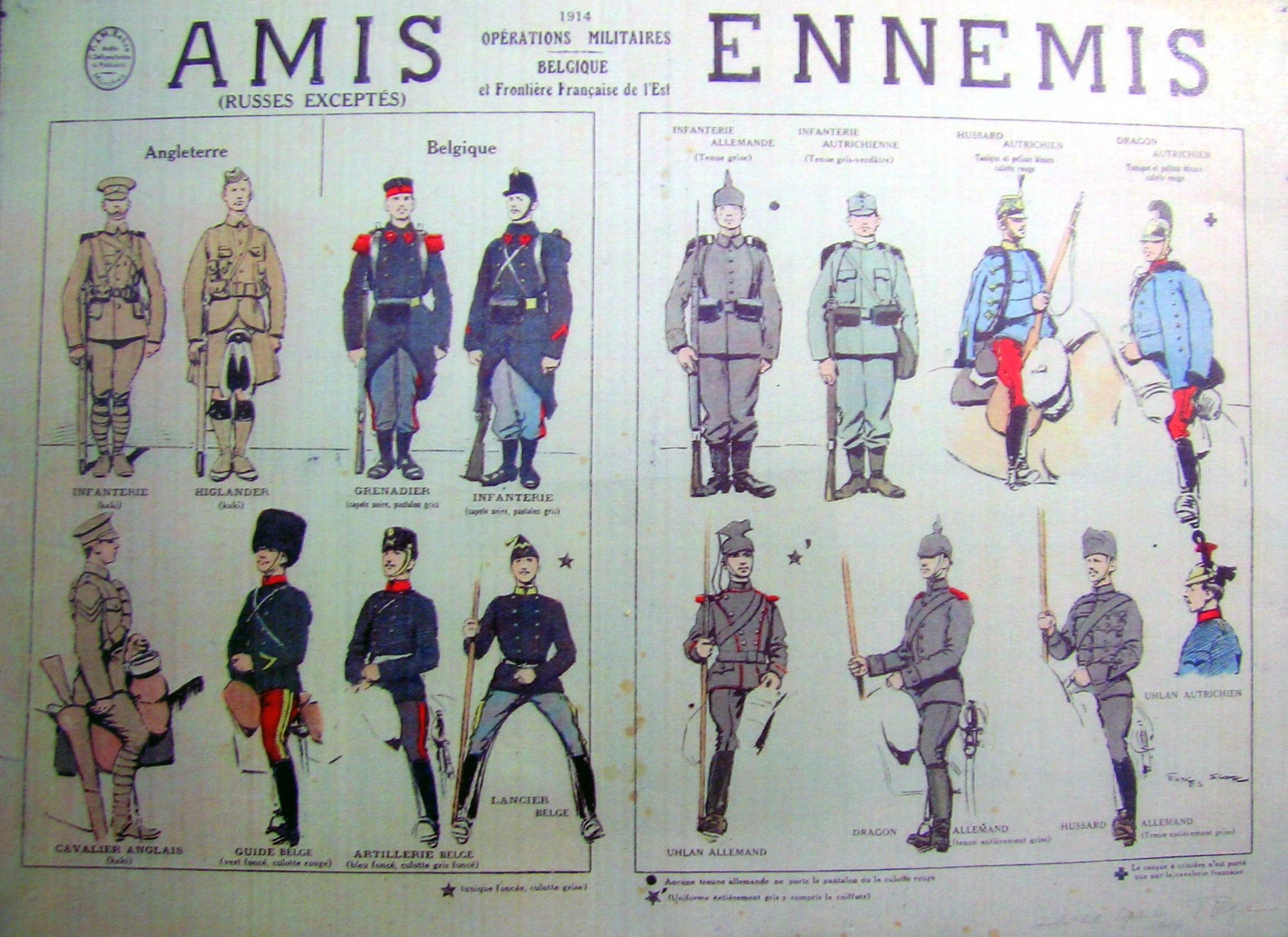 Color chart of  Amis — Ennemis.