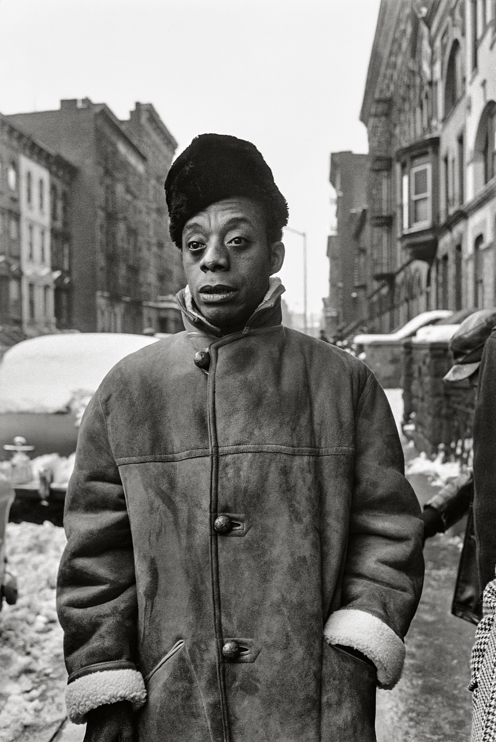 Previously Published.                               James Baldwin was born in Harlem Hospital on August 2, 1924, and grew up in the urban North. After Schapiro read                               his story in The New Yorker, he knew he                               had to photograph the author, and convinced LIFE magazine to run a major story on him. They started in Harlem before continuing on to the South.