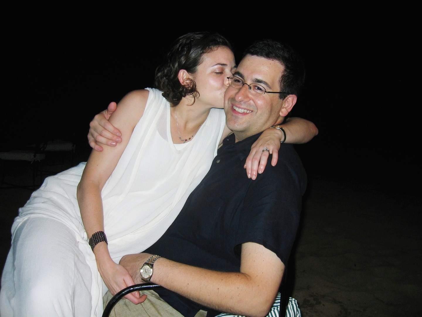 Sandberg and her husband Goldberg at his brother Rob's rehearsal dinner in Mexico in 2003