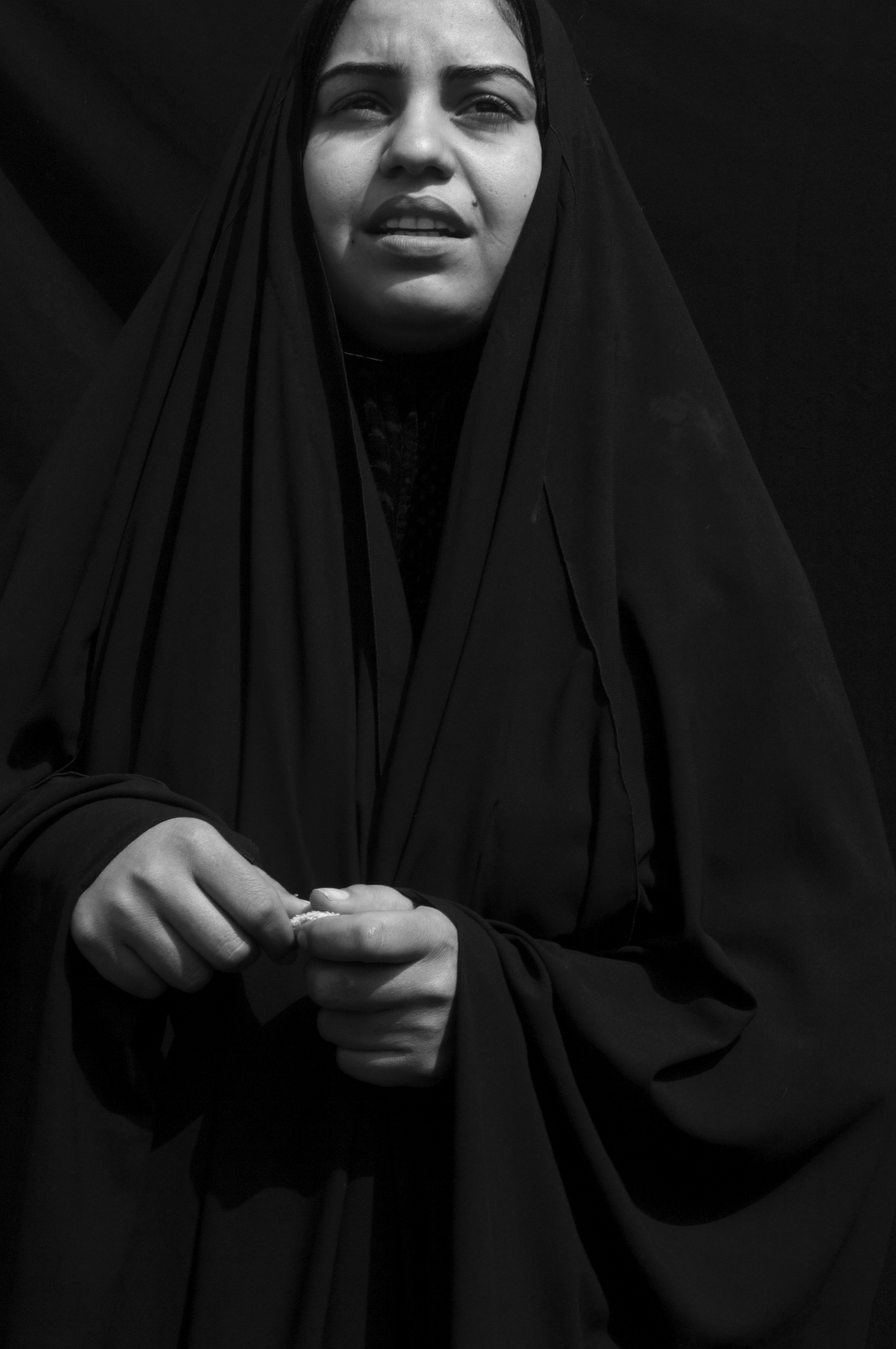 Sahar Ashour Nema, a Shi'ite refugee in Baghdad's al-Shulla neighborhood. She and her family were driven out of their home by their Sunni neighbors. Two years earlier her husband was killed by Sunni terrorists, Baghdad, March 2, 2006.