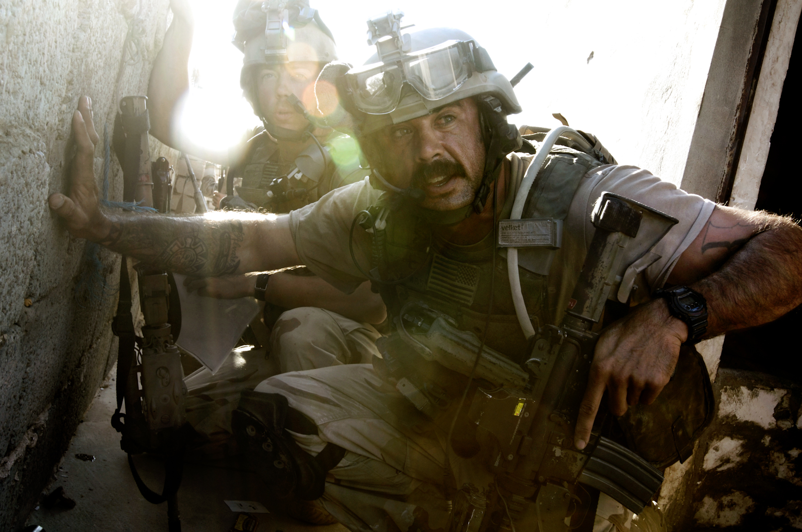 During the massive U.S. attack on the al Qaeda stronghold of Tall Afar,  Iraq, U.S. Special Forces engaged in heavy combat with insurgents who launched RPGs from rooftops, Sept. 4, 2005.