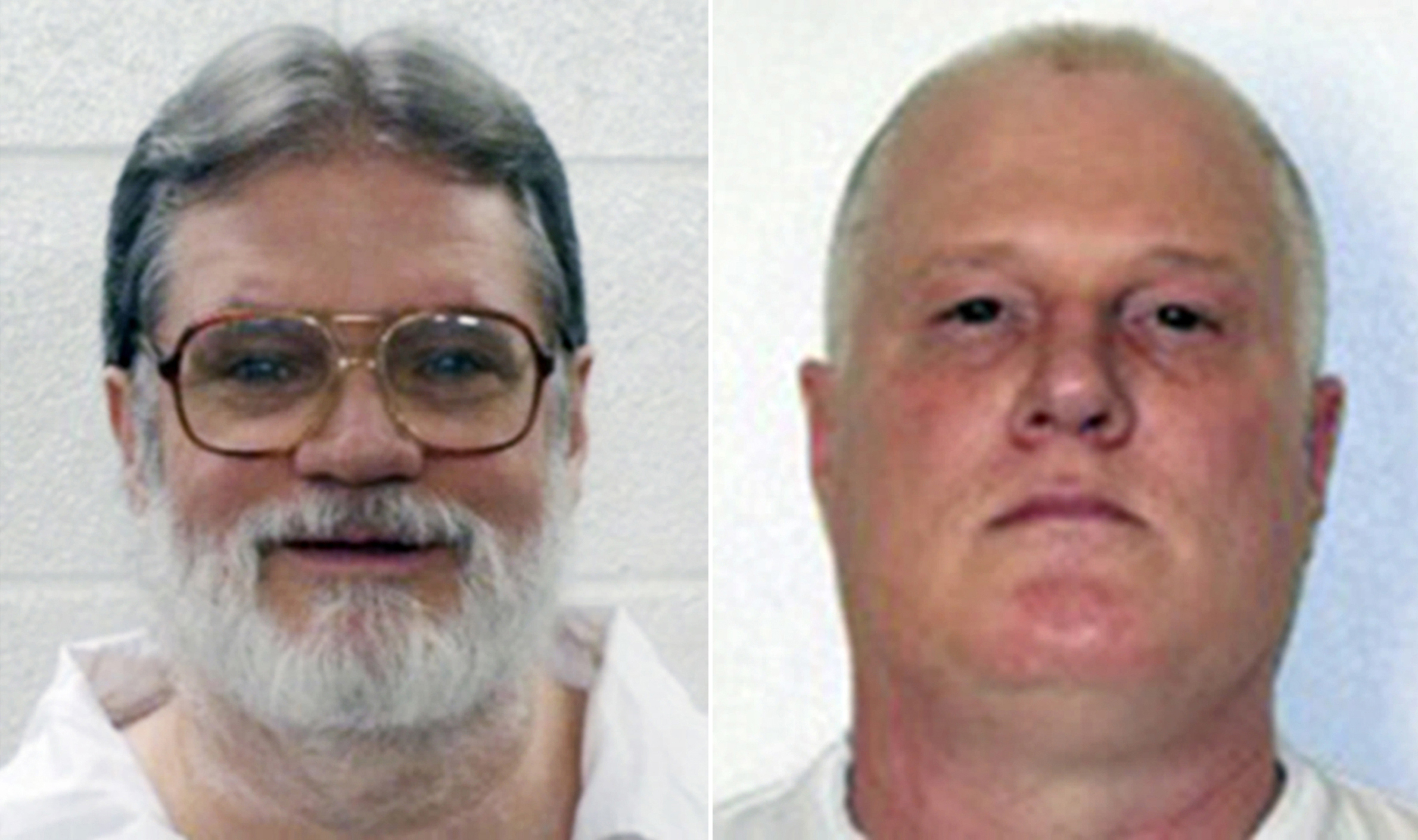 Death-row inmates Bruce Earl Ward, left, and Don William Davis.