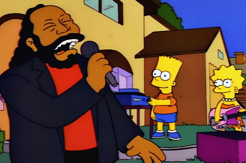 "Barry White: The singer appeared as himself in ""Whacking Day,"" where Lisa uses White's voice to lure snakes to safety. He also appeared as himself in ""Krusty Gets Kancelled"" in 1993 and his song ""Can't Get Enough of Your Love, Babe"" was used in the final scene of ""The Last Temptation of Homer"" in 1993."