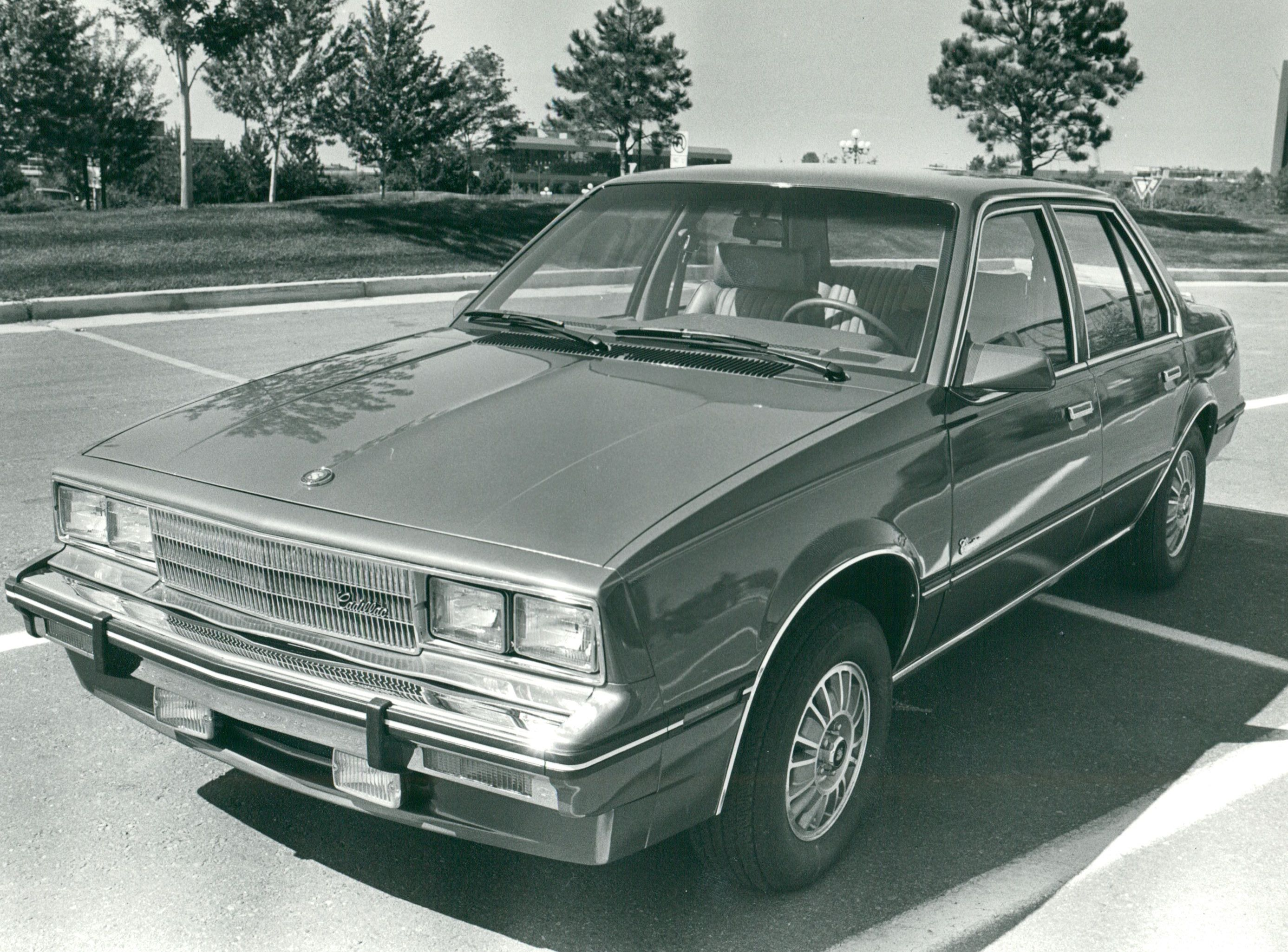 SEP 21 1982, SEP 22 1982; Cadillac Cimarron sports new grille treatment, new fuel-injected 2.0-liter