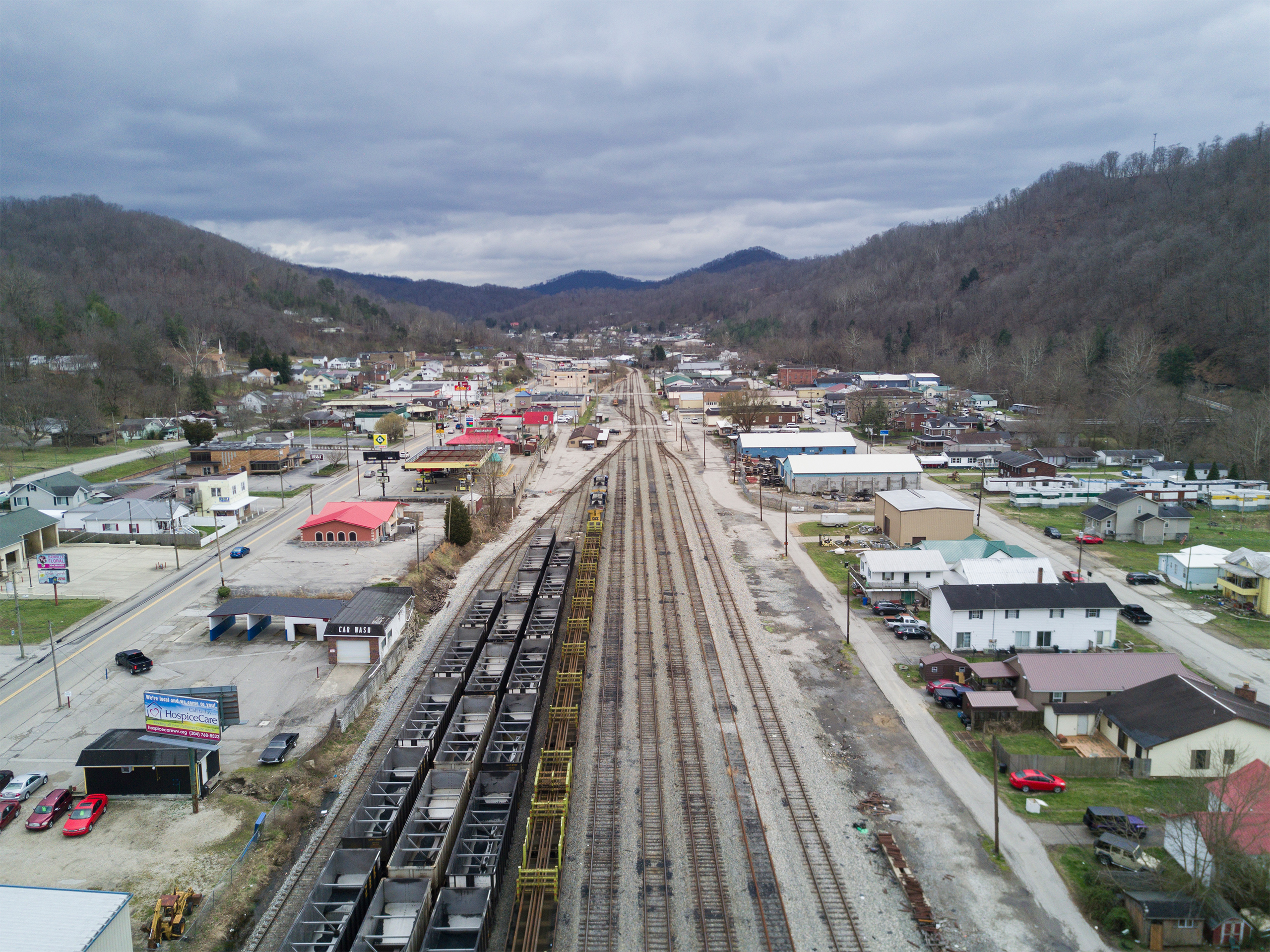 The town of Danville, W.Va., appears on Mar. 19, 2017.