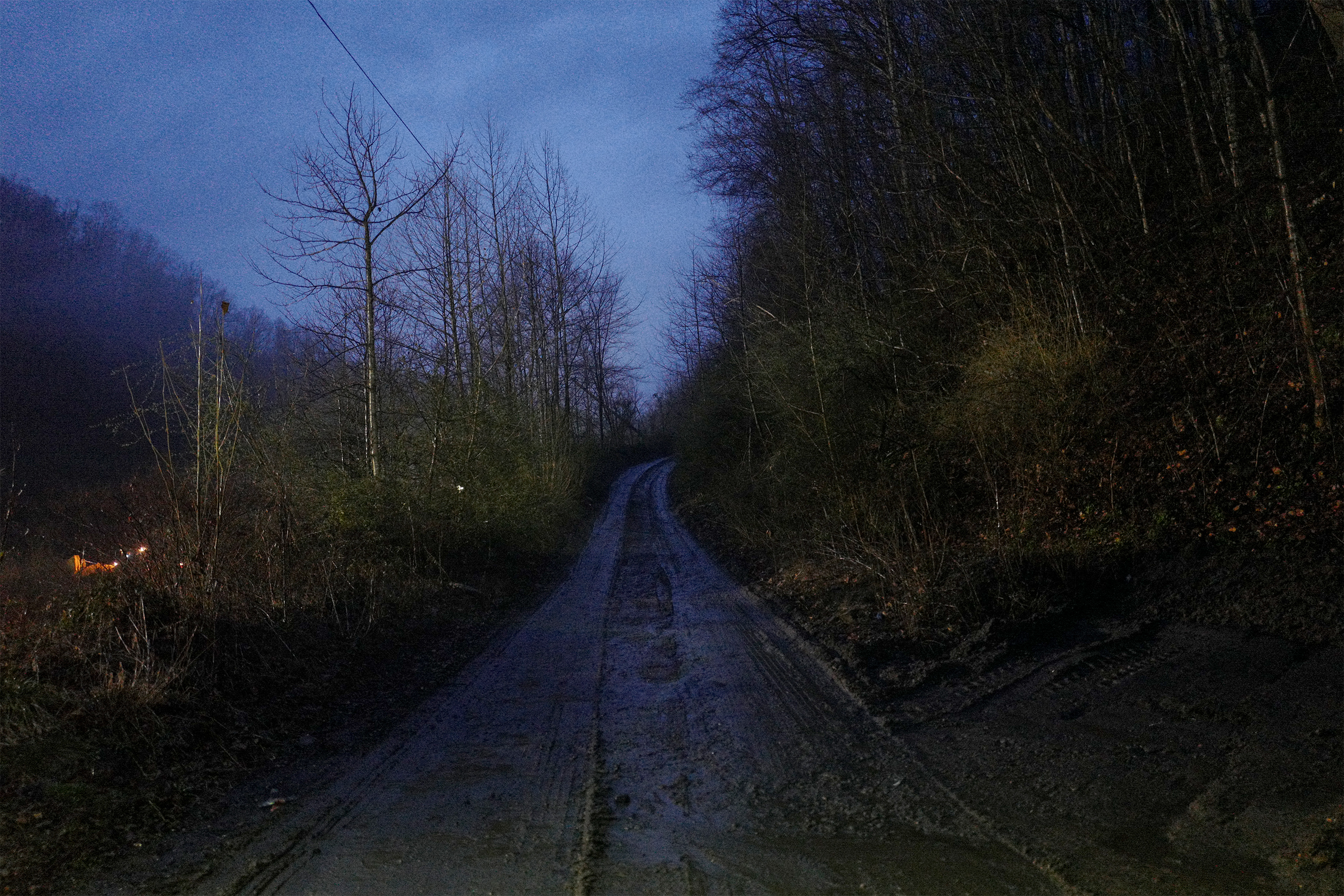 Outside a Southern Coal Corporation underground coal mine in Monroe County, W.Va., during a rainstorm on Mar. 17, 2017.