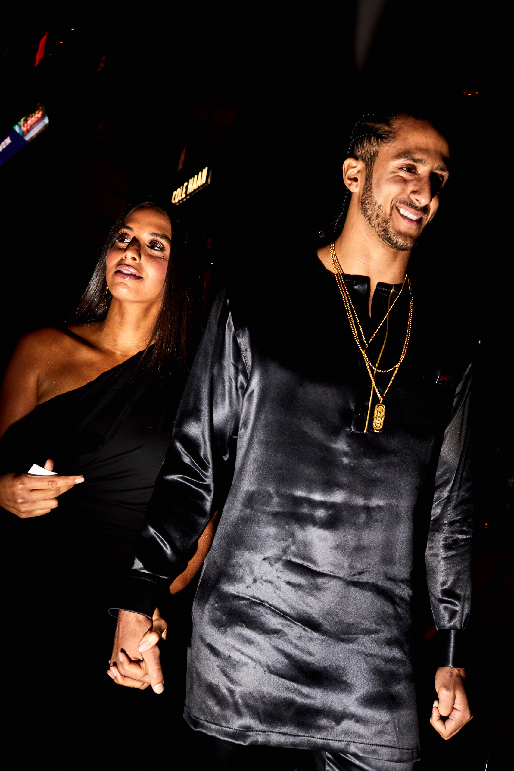 Colin Kaepernick and his wife Nessa at the Time 100 Gala at Jazz at Lincoln Center on April 25, 2017 in New York City.