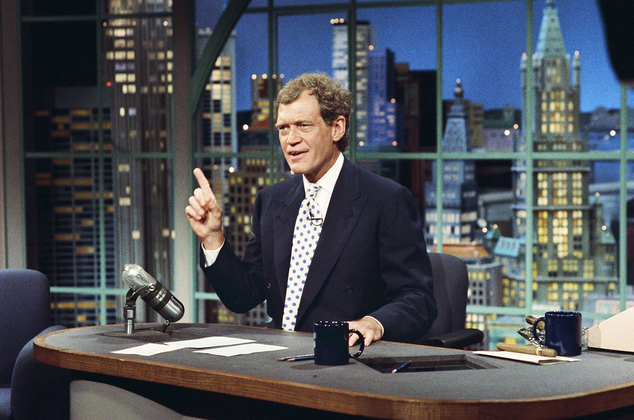 Host David Letterman on Late Night with David Letterman, June 25, 1993.