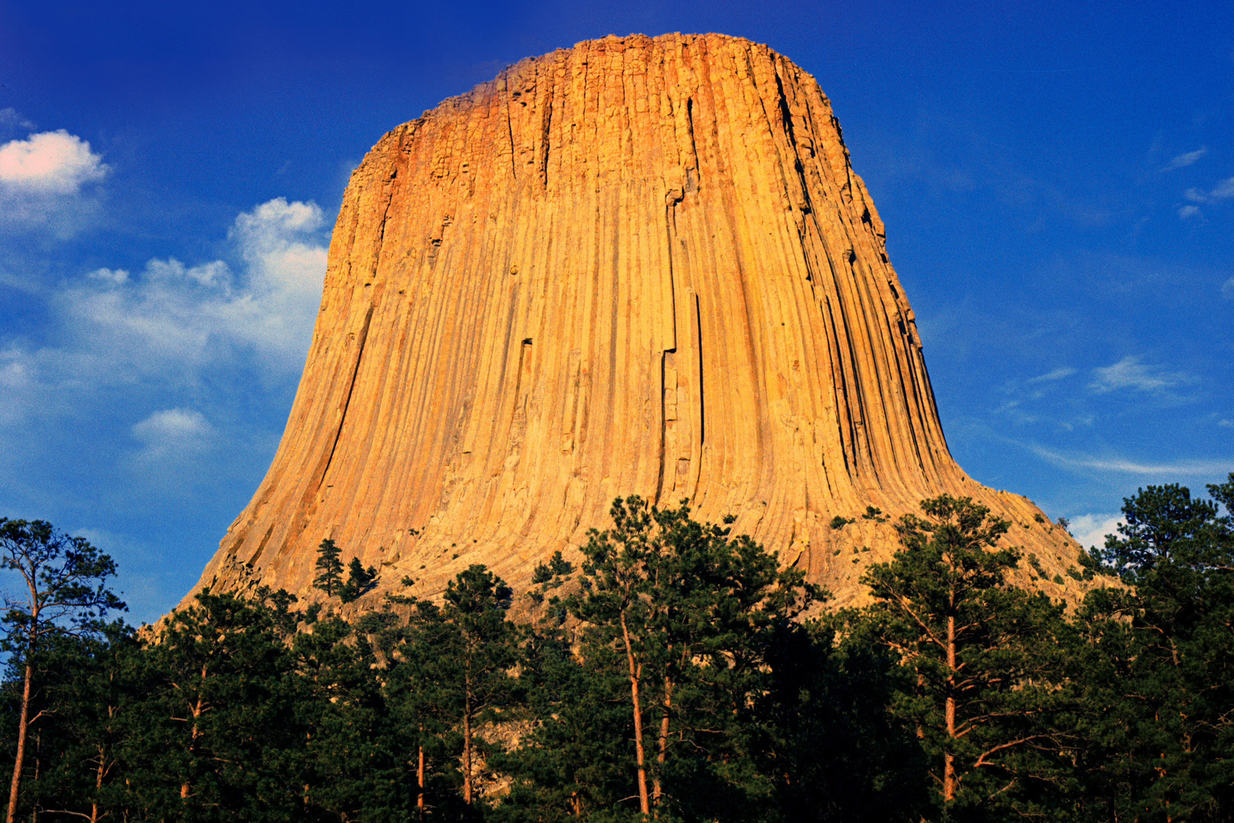 Devils Tower in Crook County, Wyoming, the first national monument.