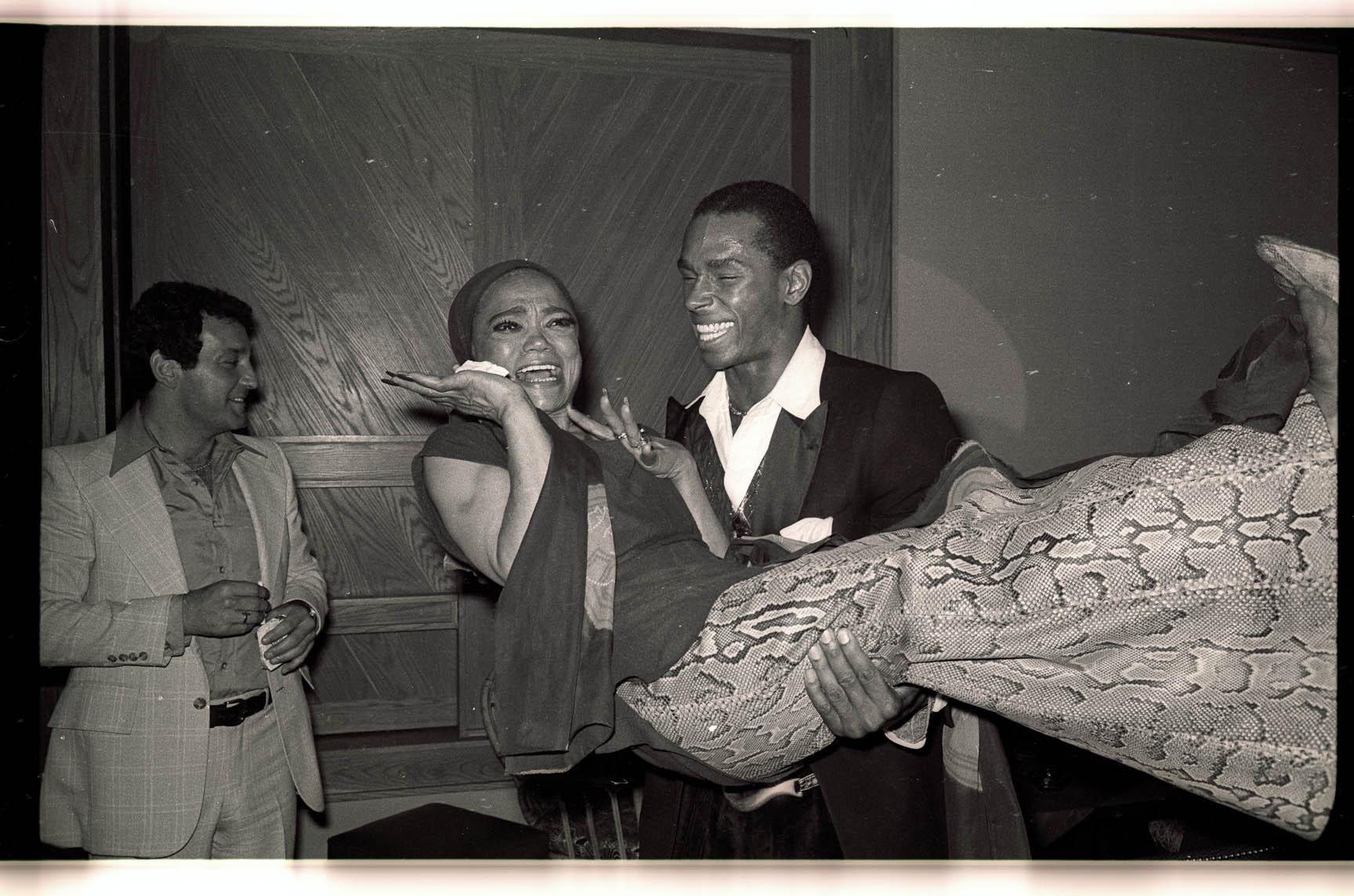Eartha Kitt at Studio 54, photographed by Gene Spatz.