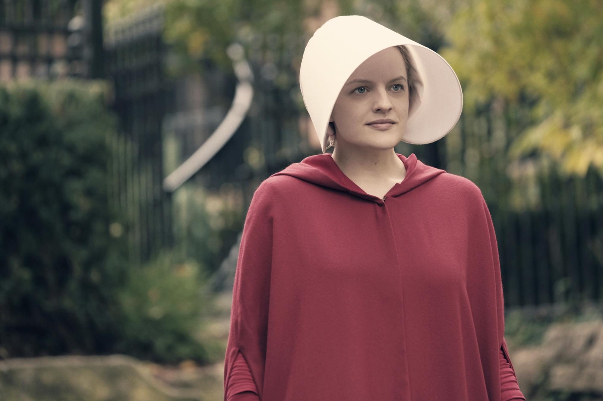 Elisabeth Moss in The Handmaid's Tale.