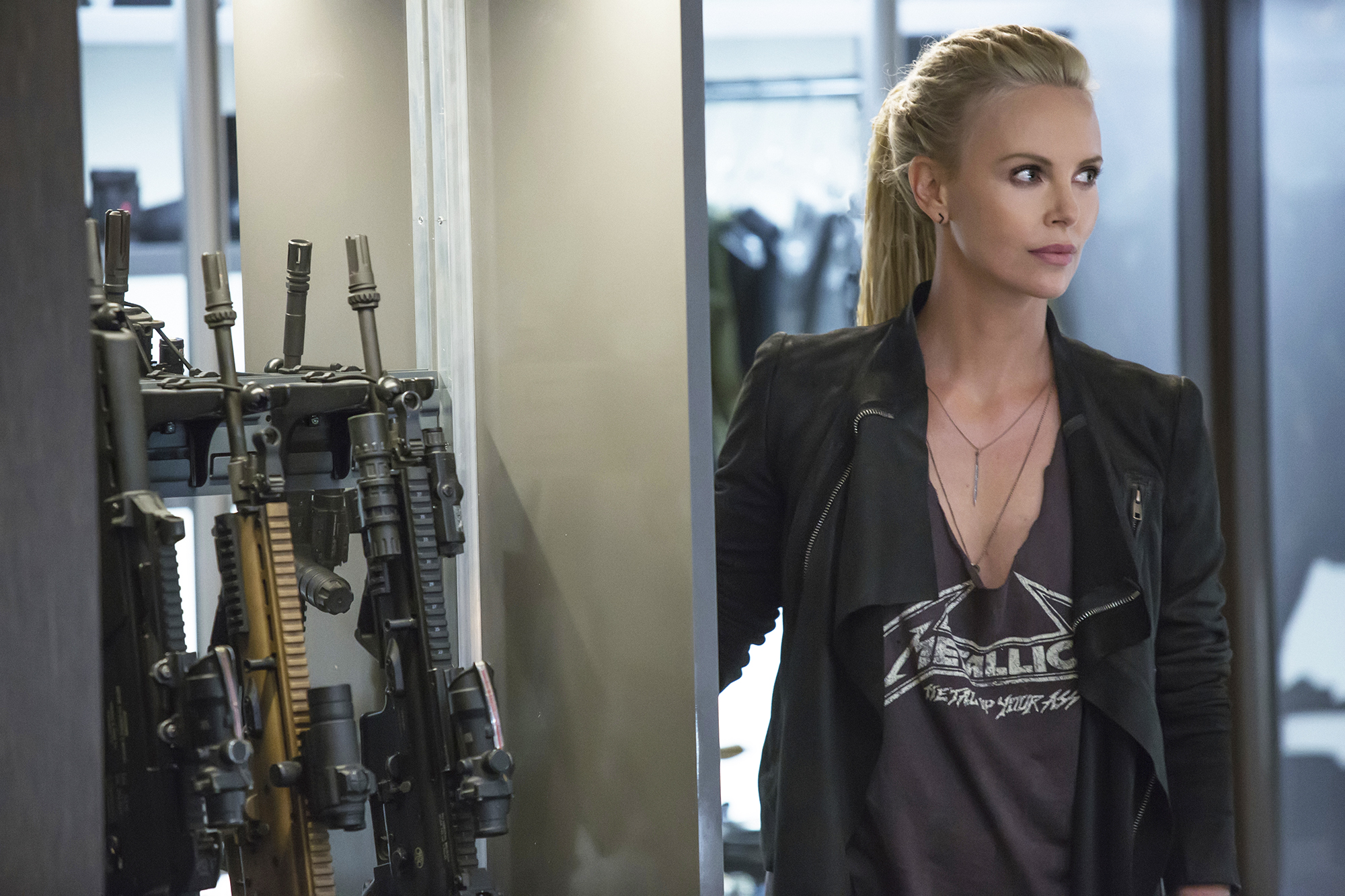 Charlize Theron in The Fate of the Furious.