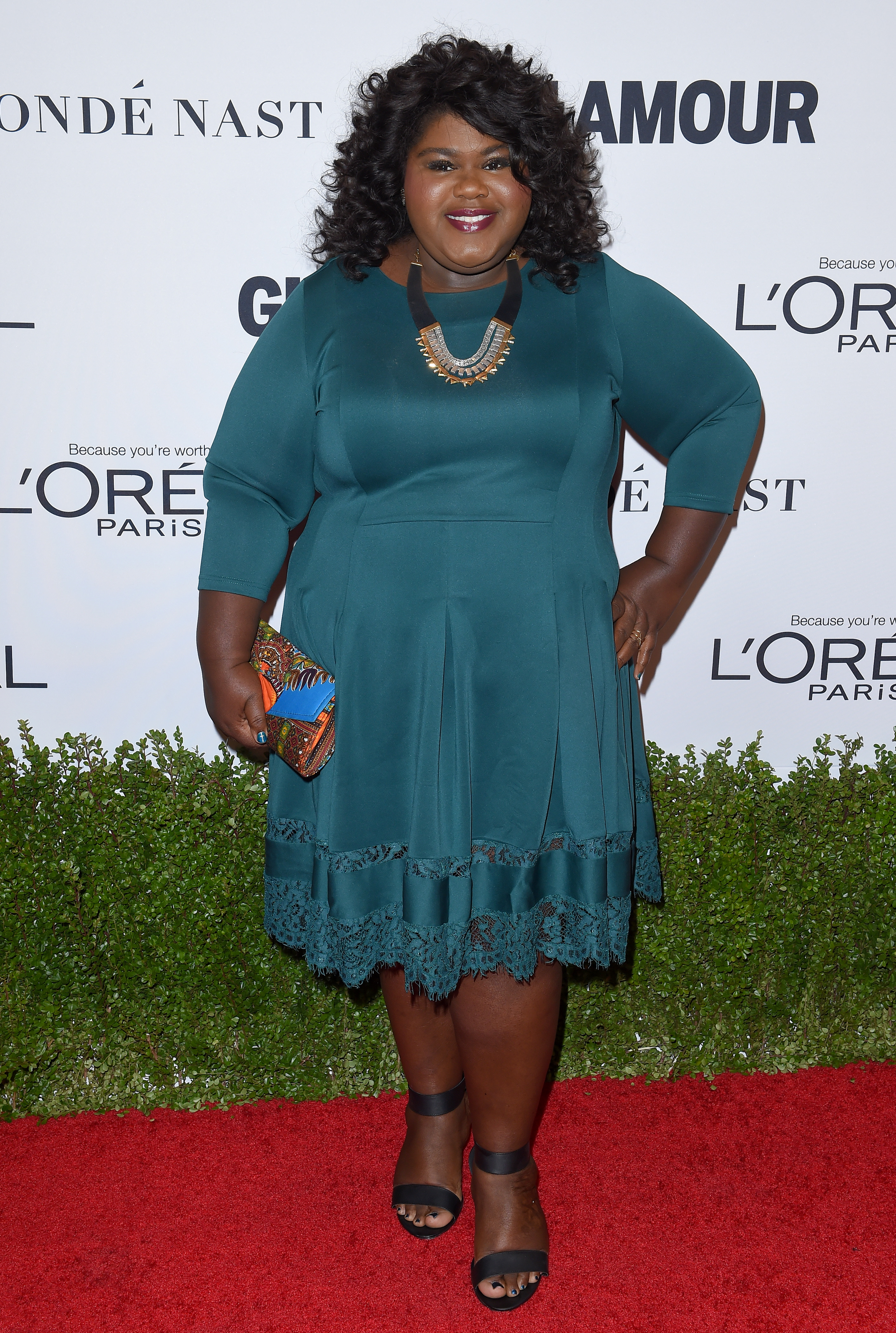LOS ANGELES, CA - NOVEMBER 14:  Actress Gabourey Sidibe arrives at Glamour Women of the Year 2016 at NeueHouse Hollywood on November 14, 2016 in Los Angeles, California.  (Photo by Axelle/Bauer-Griffin/FilmMagic)