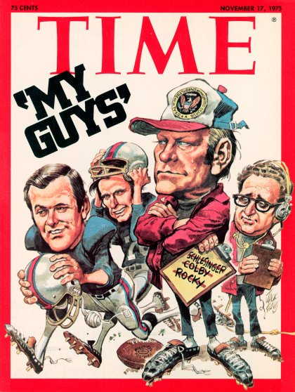 George H.W. Bush, pictured as part of Gerald Ford's team, on the Nov. 17, 1975, cover of TIME