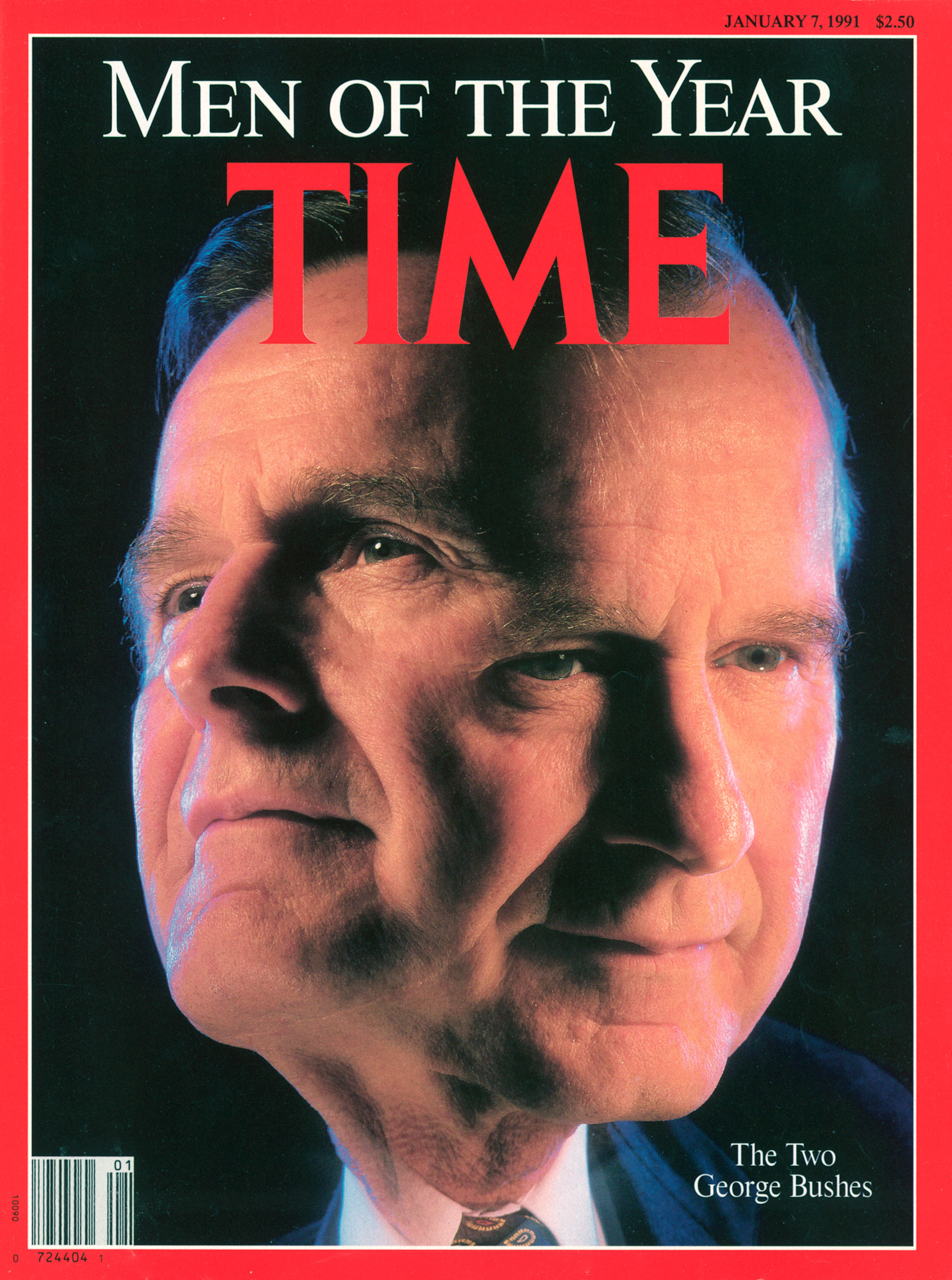 George H.W. Bush, Men of the Year, on the Jan. 7, 1991, cover of TIME. Cover photo by Gregory Heisler.