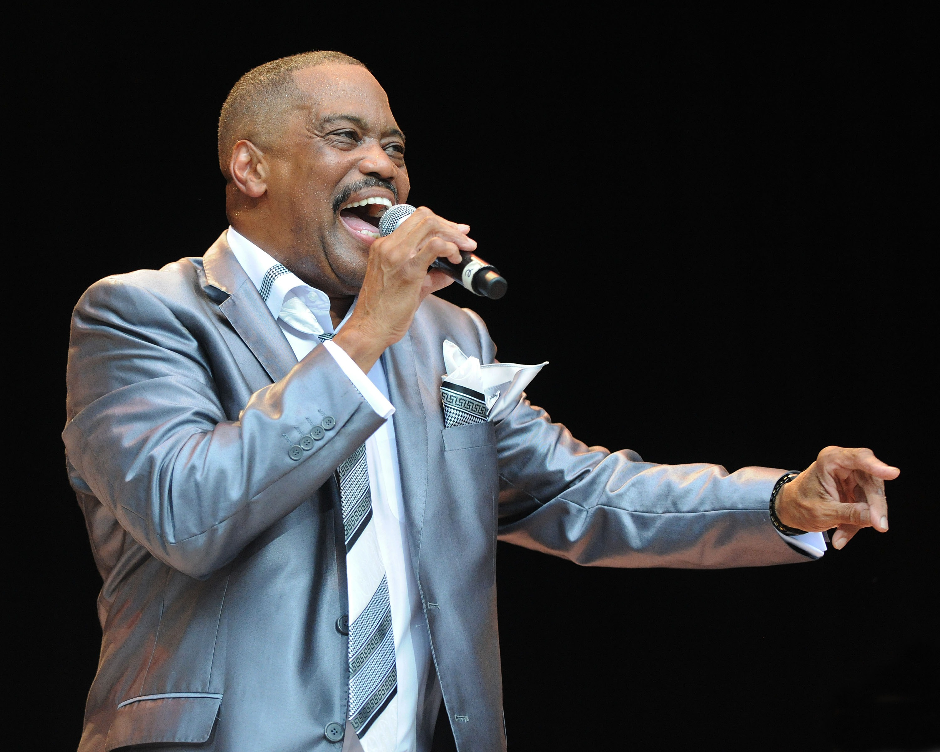 Cuba Gooding, Sr. of The Main Ingredient performs at Chastain Park Amphitheater on July 10, 2013 in Atlanta, Georgia.
