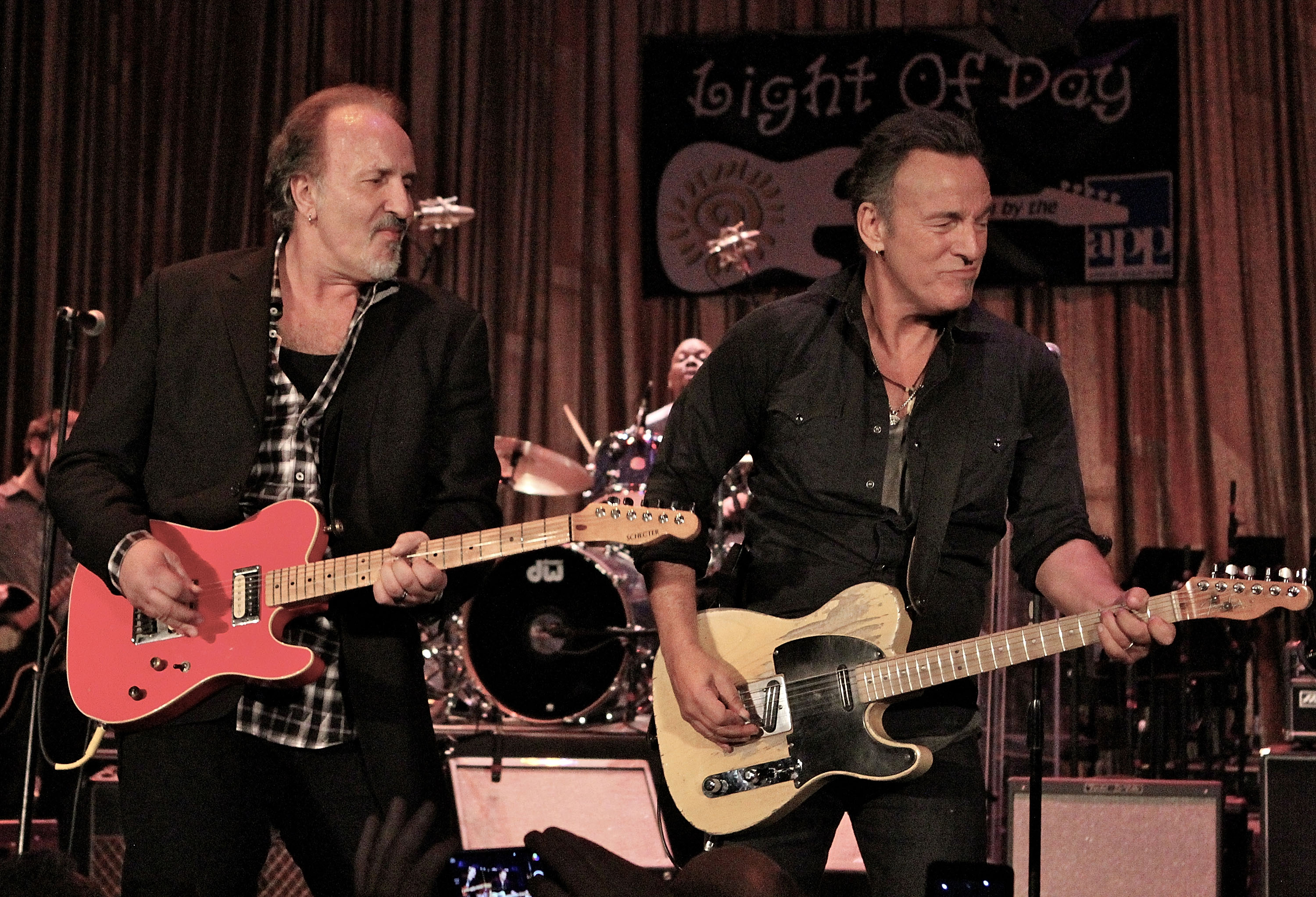 Musicians Joe Grushecky and Bruce Springsteen perform at the Light Of Day Winterfest 2015 on Jan. 17, 2015.