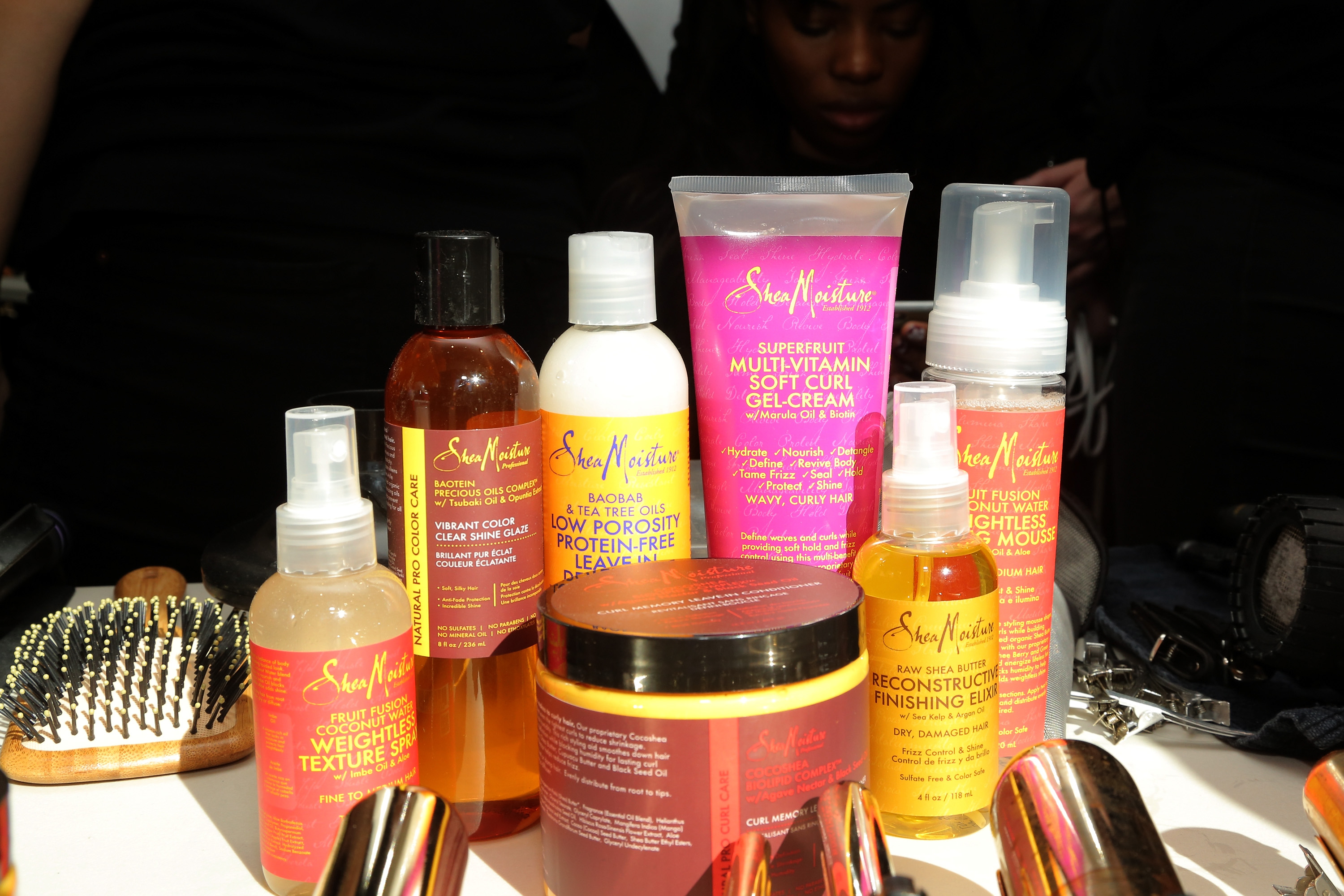 SheaMoisture products on display at SheaMoisture at Tracy Reese F/W 2016 NYFW  on Feb. 14, 2016 in New York City.