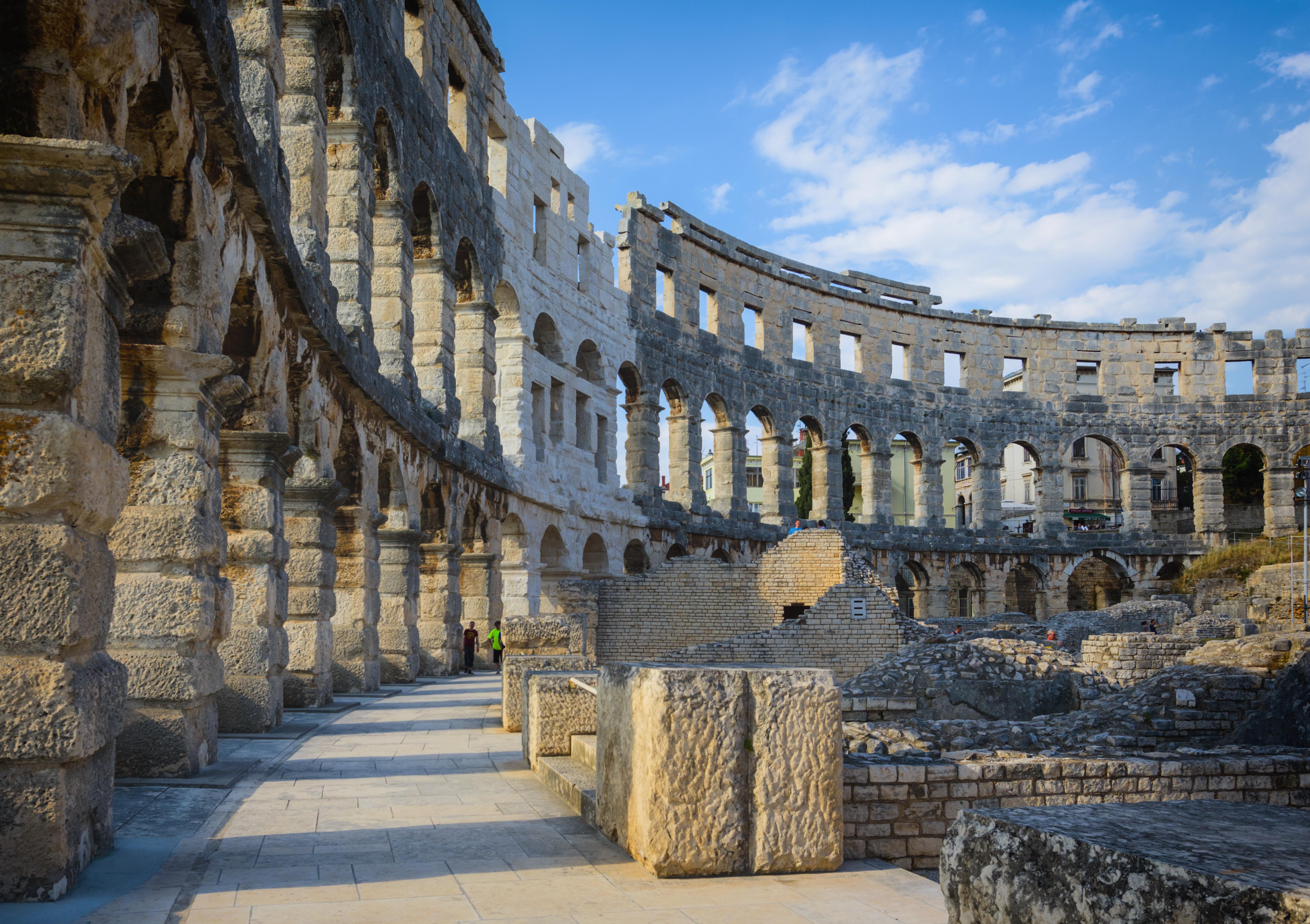 Pula, Croatia. Roman amphitheatre.