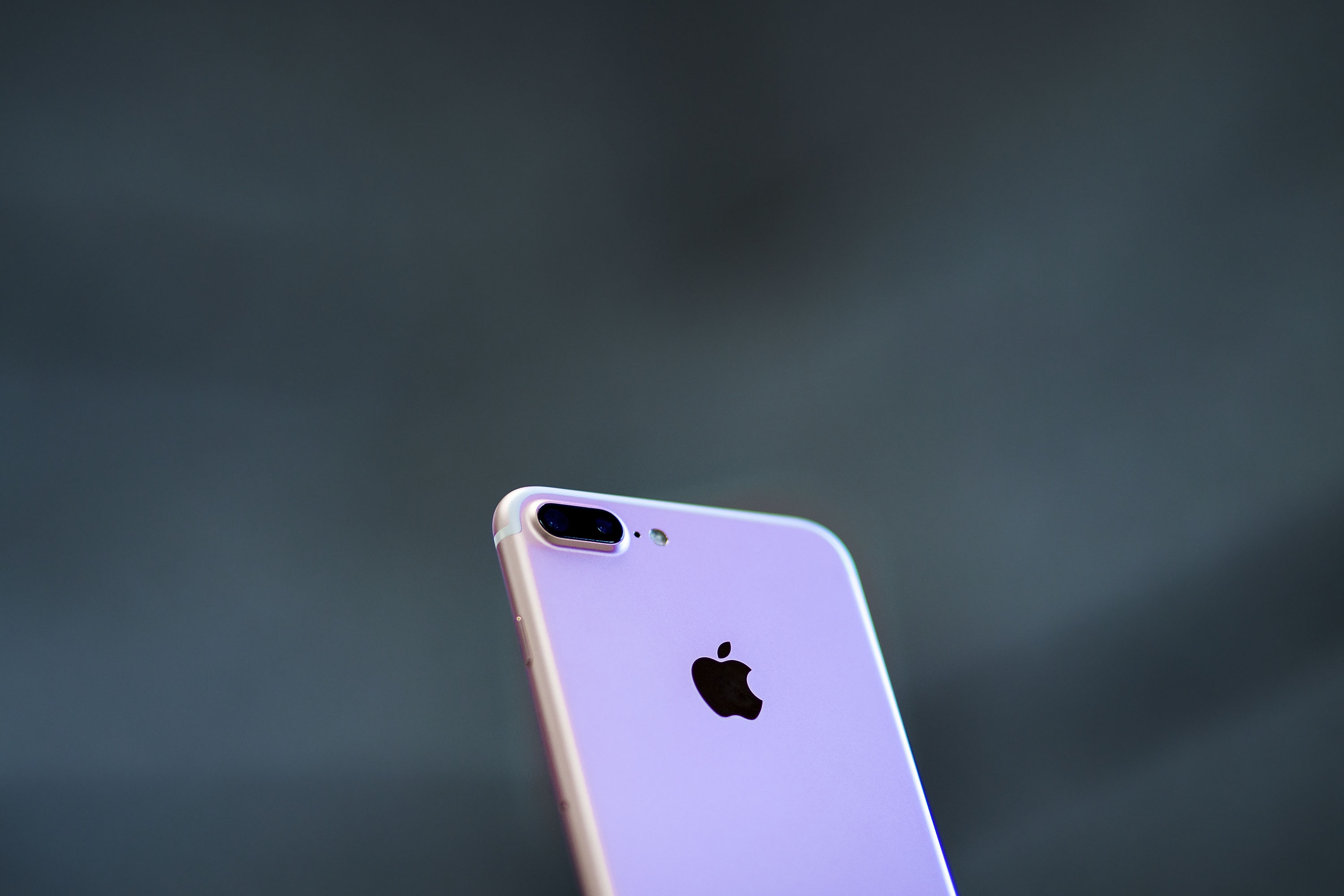 An iPhone 7 Plus with its new dual camera is displayed at Puerta del Sol Apple Store the day the company launches their Iphone 7 and 7 Plus on September 16, 2016 in Madrid, Spain.