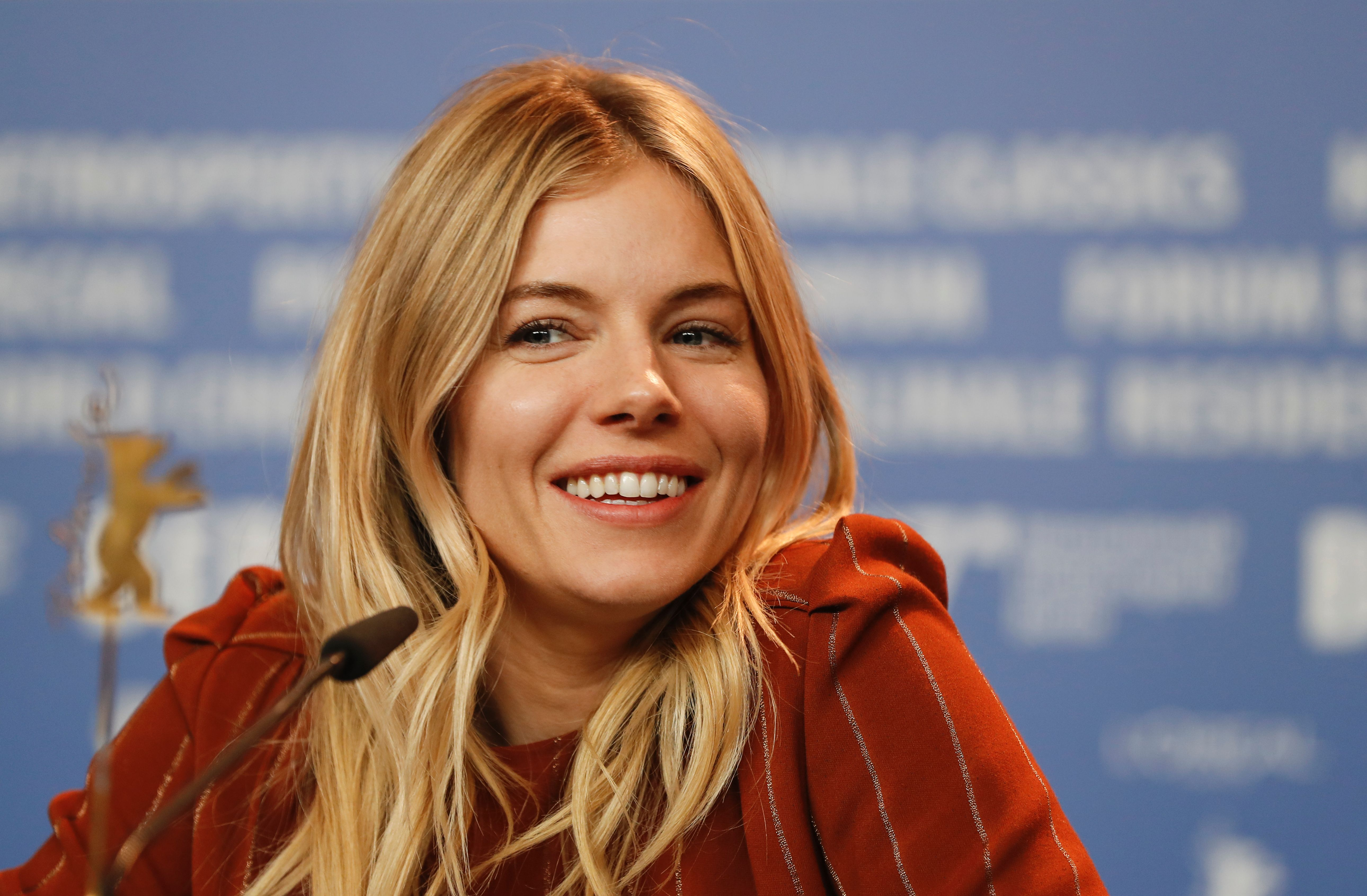 US-British actress Sienna Miller attends a press conference for the film  The Lost City of Z  presented at the Berlinale Special section of the 67th Berlinale film festival in Berlin on February 14, 2017.