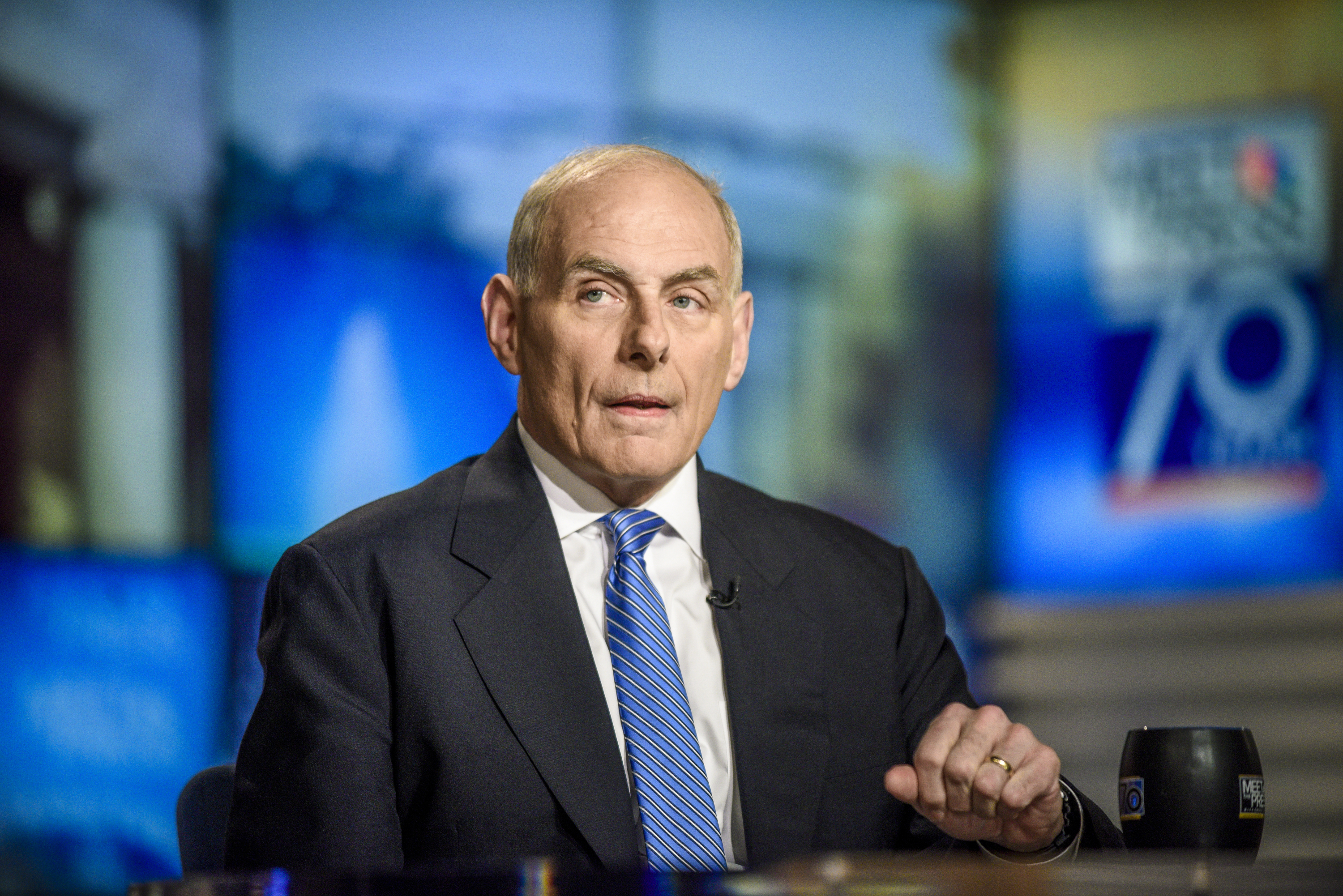 Homeland Security Secretary John Kelly on the set of 'Meet the Press' in Washington, April 15, 2017.