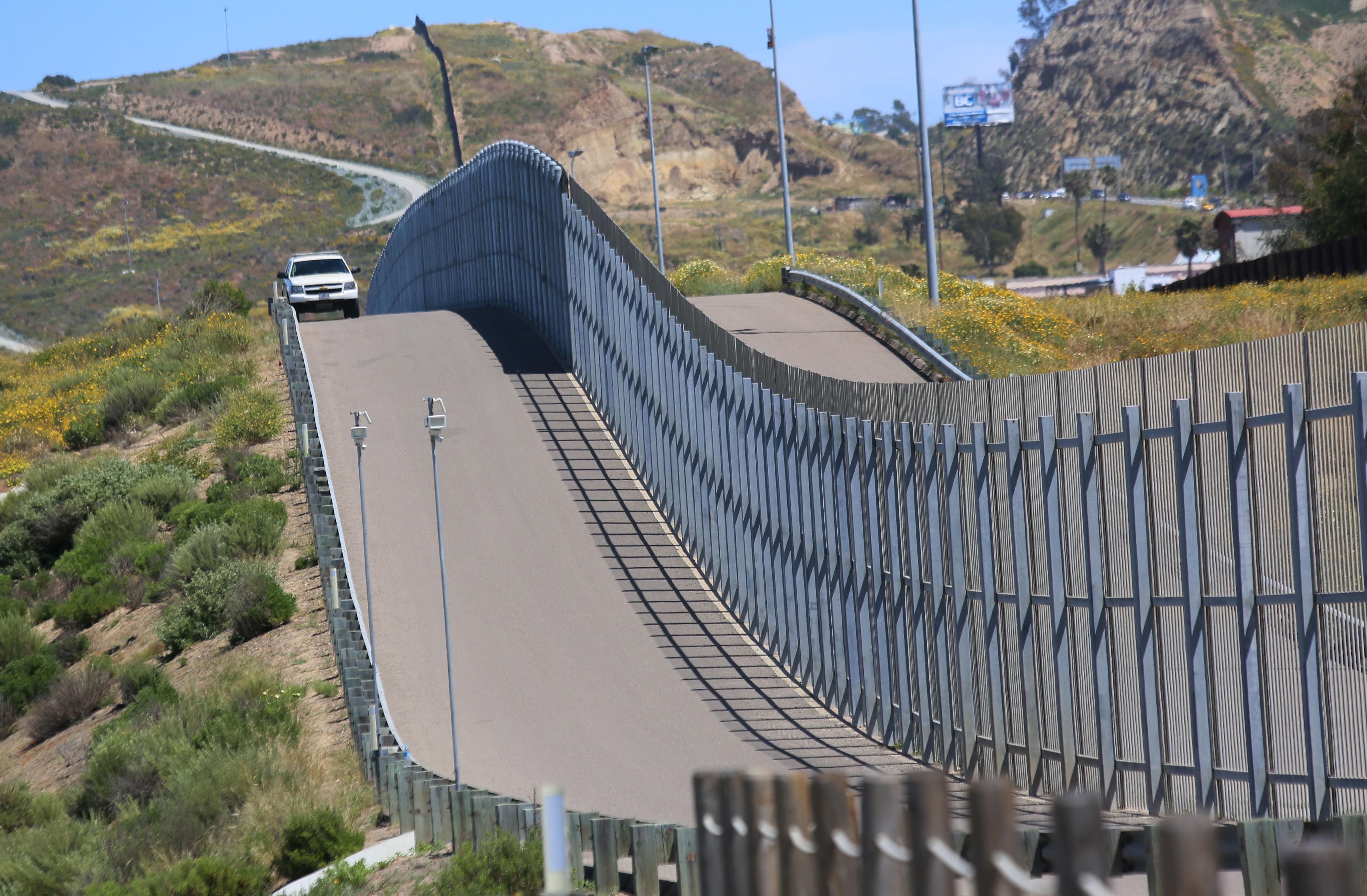 U.S. Border Patrol agents patrol the U.S.-Mexico border at Friendship Park in San Ysidro, Calif., April 16, 2017.