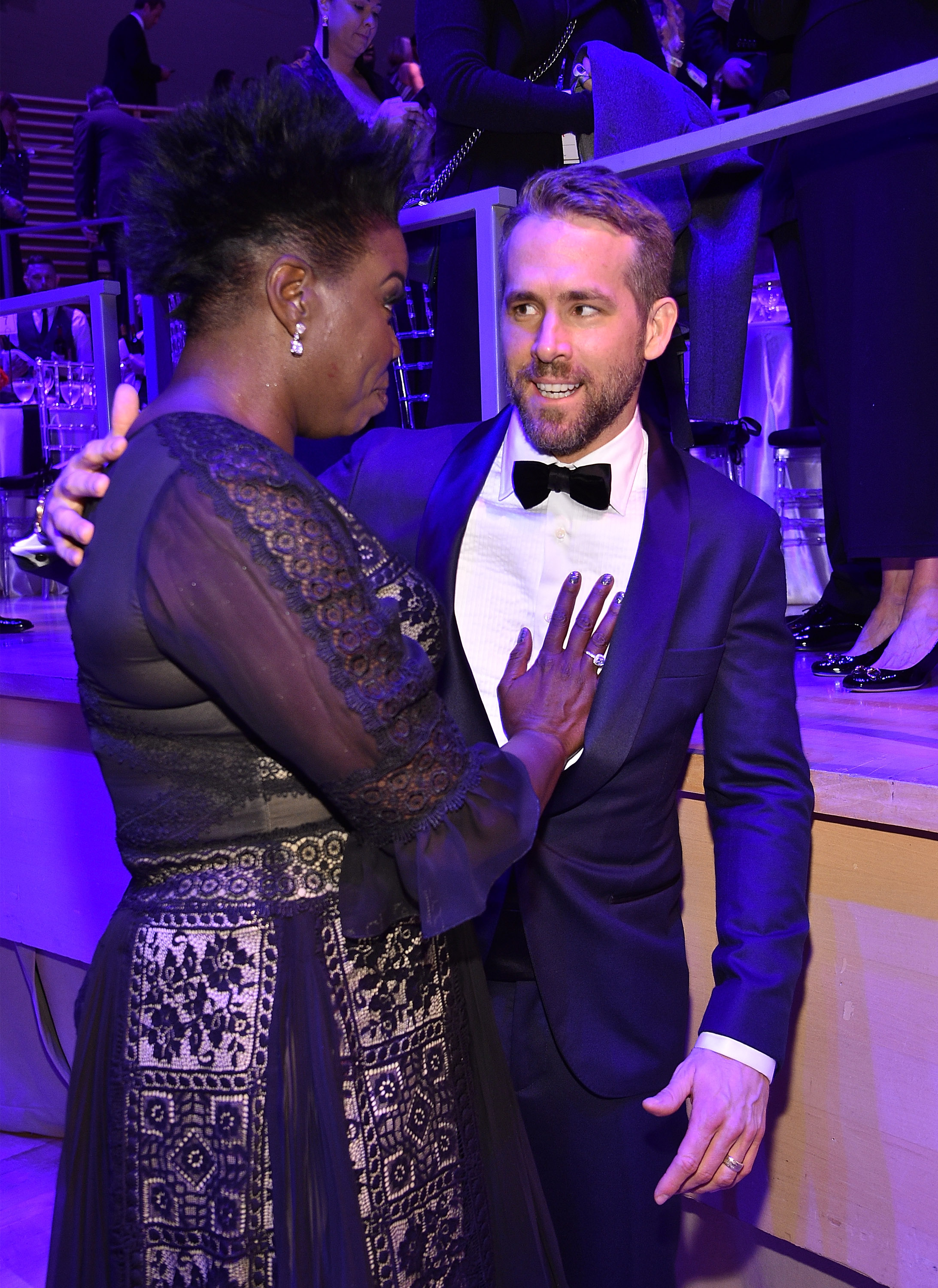 NEW YORK, NY - APRIL 25: Leslie Jones and Ryan Reynolds attend 2017 Time 100 Gala at Jazz at Lincoln Center on April 25, 2017 in New York City. (Photo by Kevin Mazur/Getty Images for TIME)