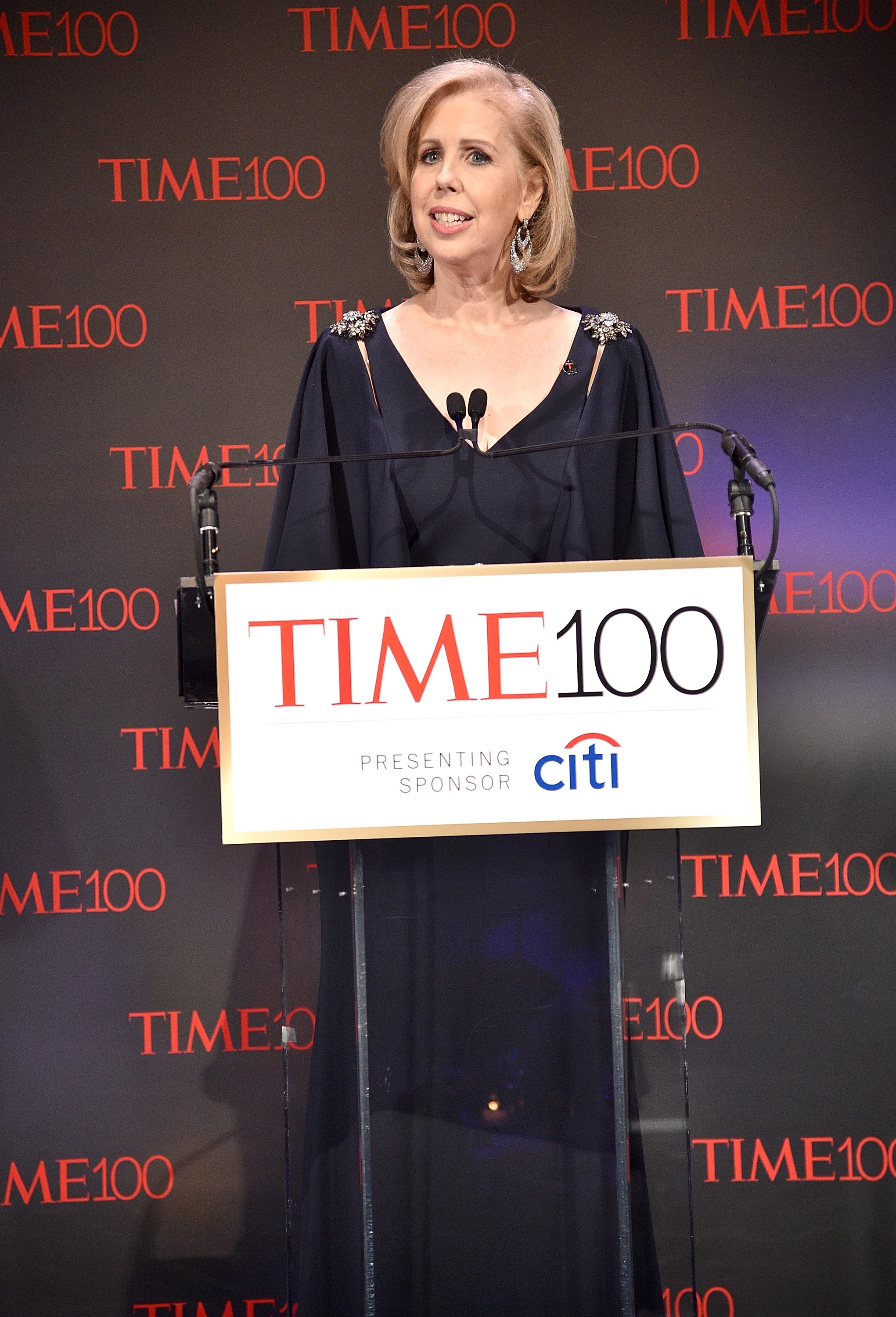TIME managing editor Nancy Gibbs speaks during 2017 Time 100 Gala at Jazz at Lincoln Center on April 25, 2017 in New York City.