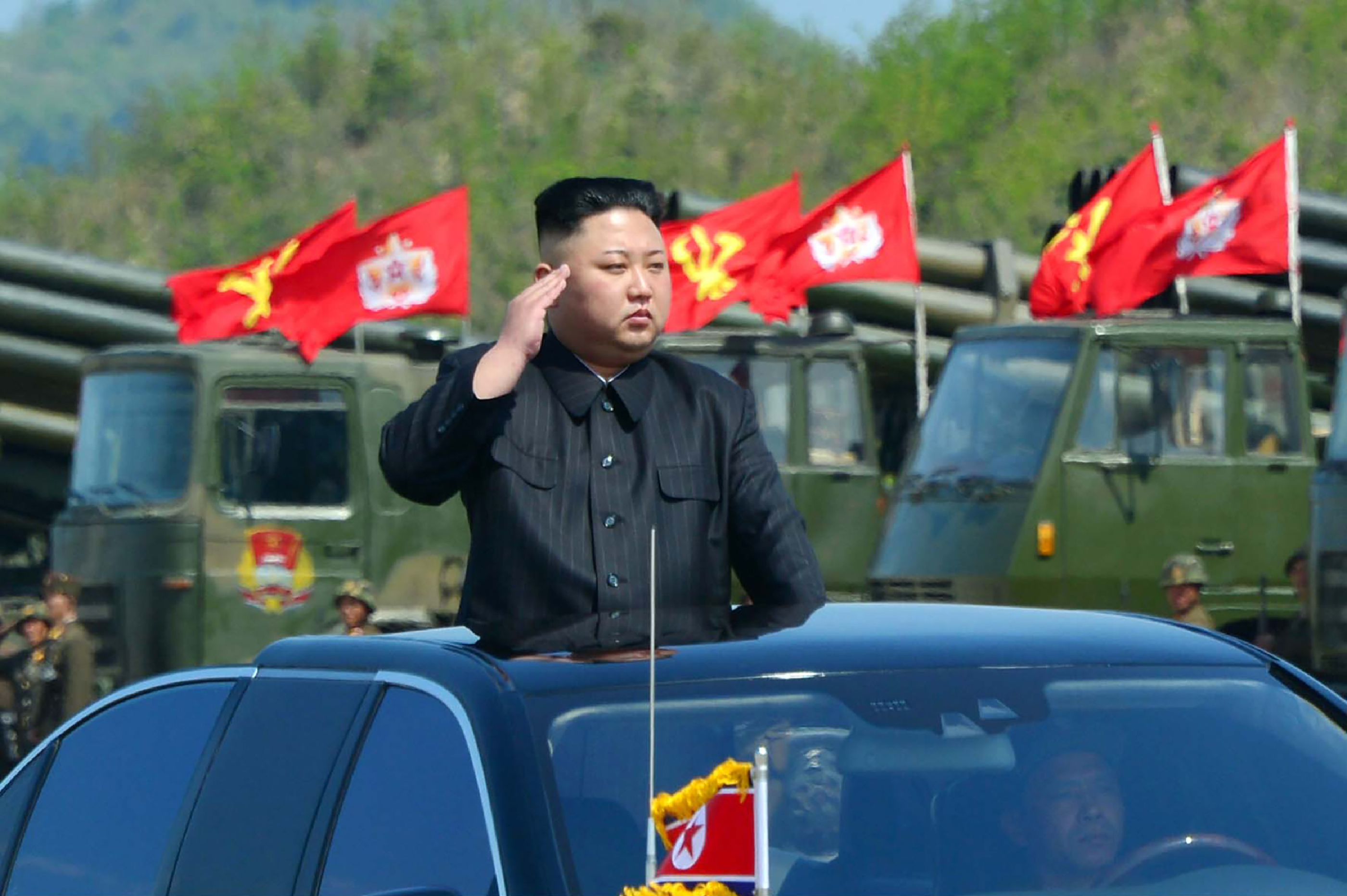 This undated picture released by North Korea's official Korean Central News Agency (KCNA) on April 26, 2017 shows North Korean leader Kim Jong-Un.