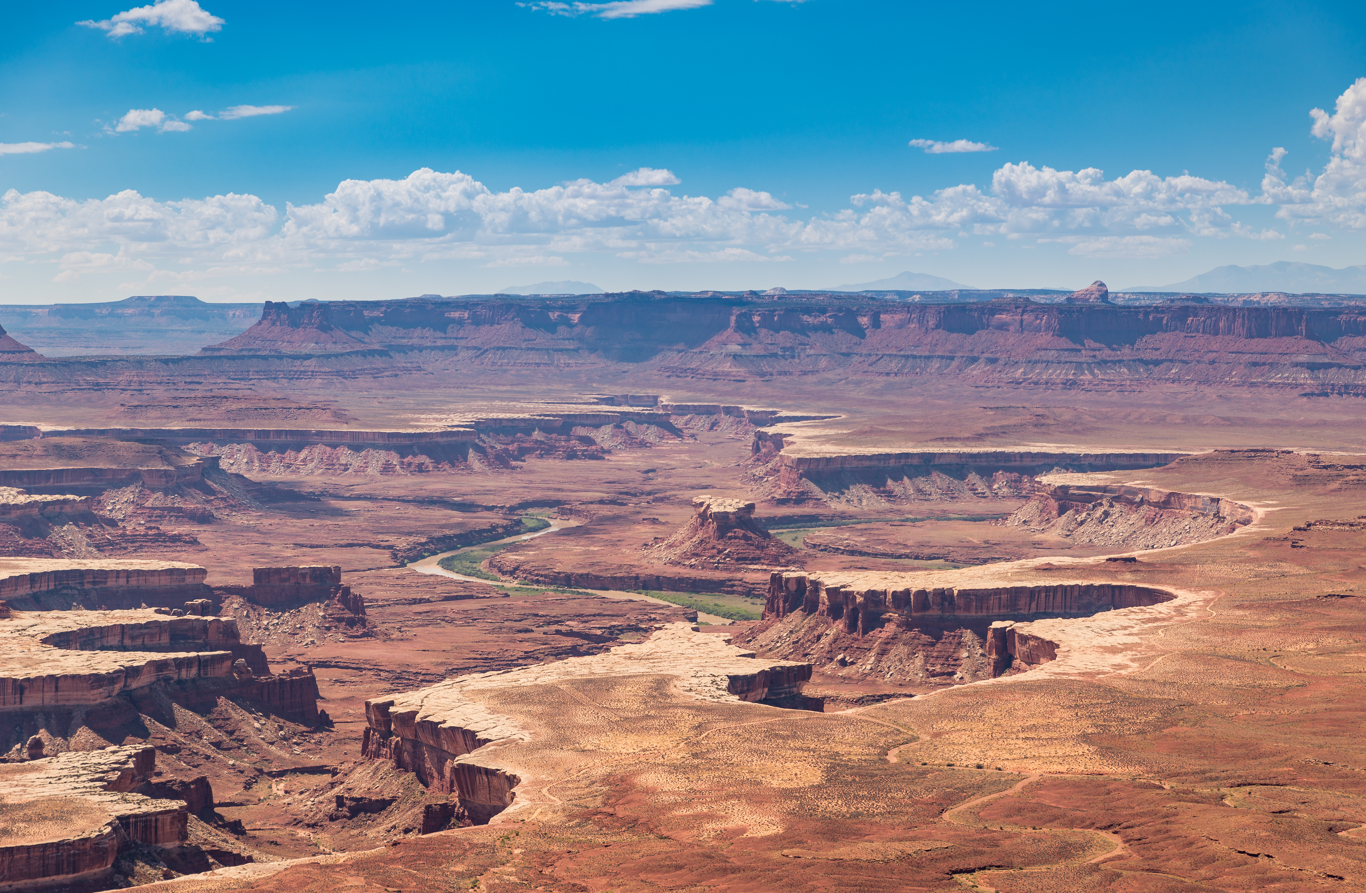 High Angle View Of Canyonlands National Park