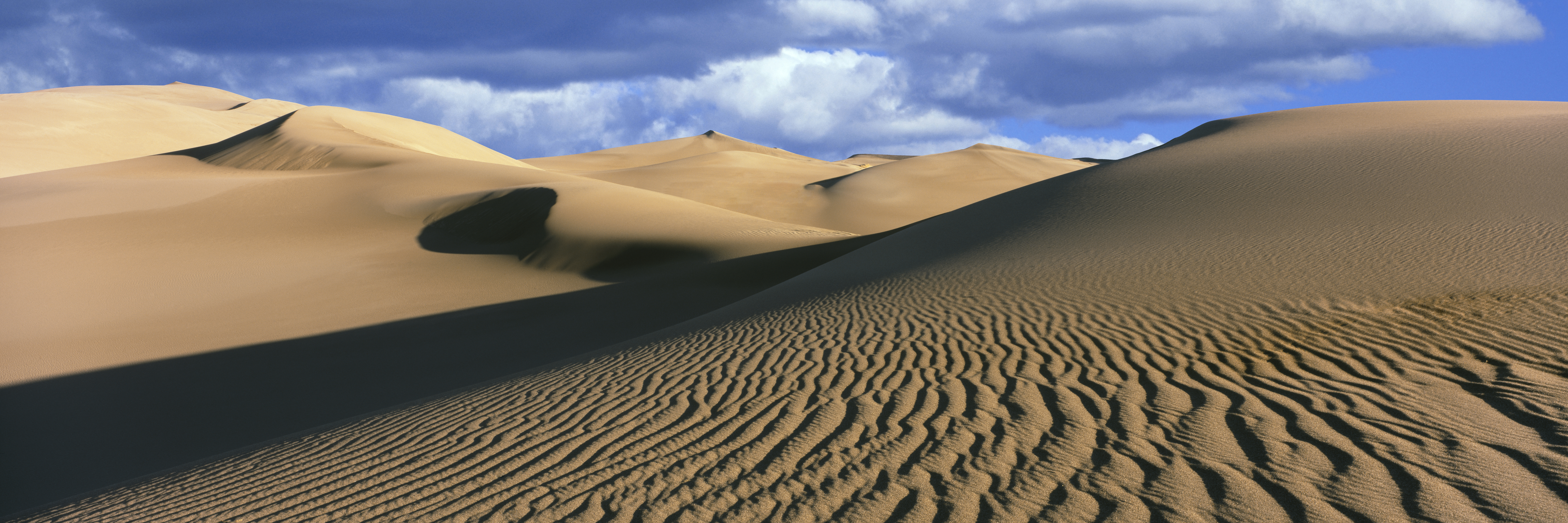 Sand dunes in a desert, Great Sand Dunes National Park, Colorado, USA
