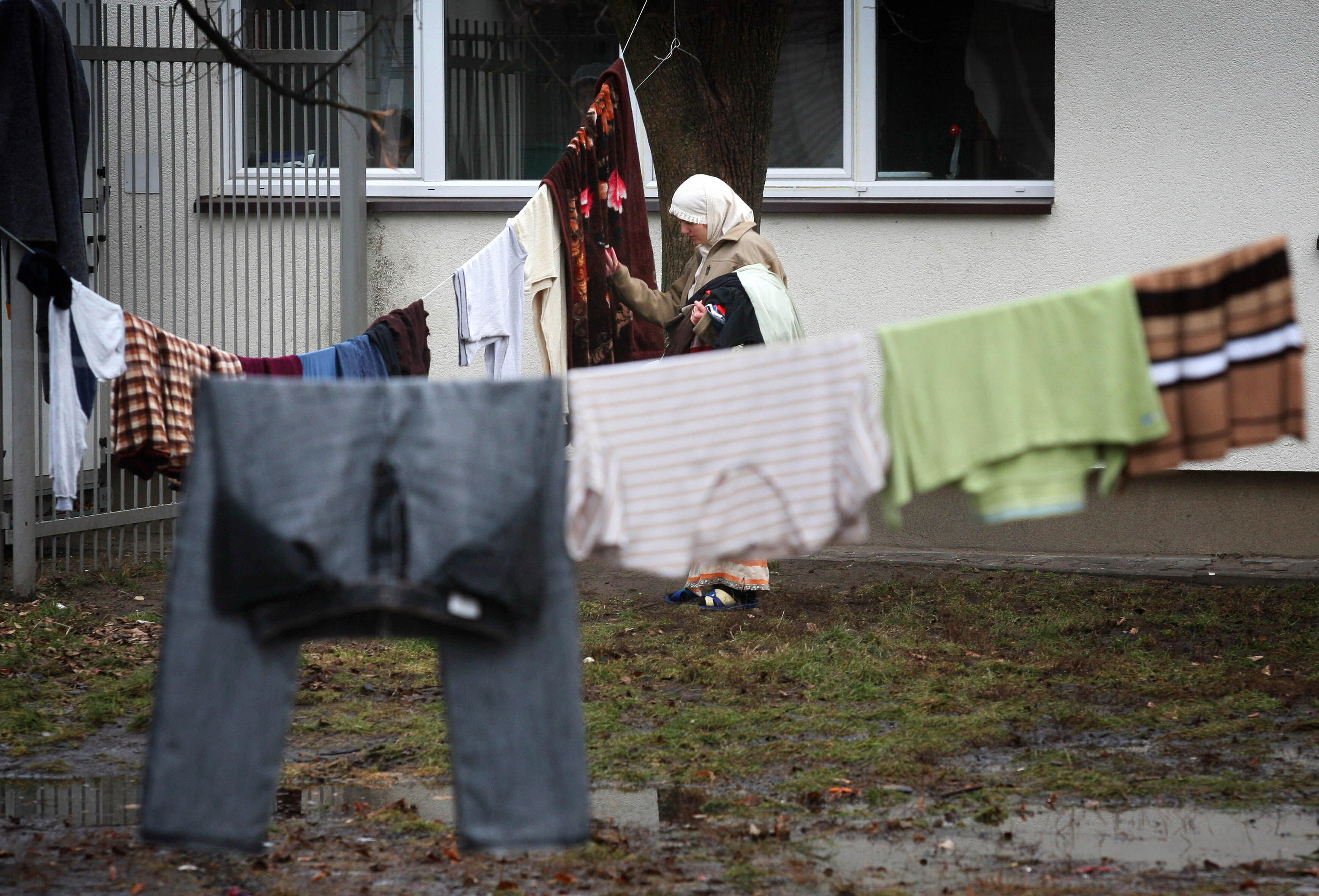 A Chechen woman at a refugee camp in the village of Debak, near Warsaw, on Jan. 16, 2008.