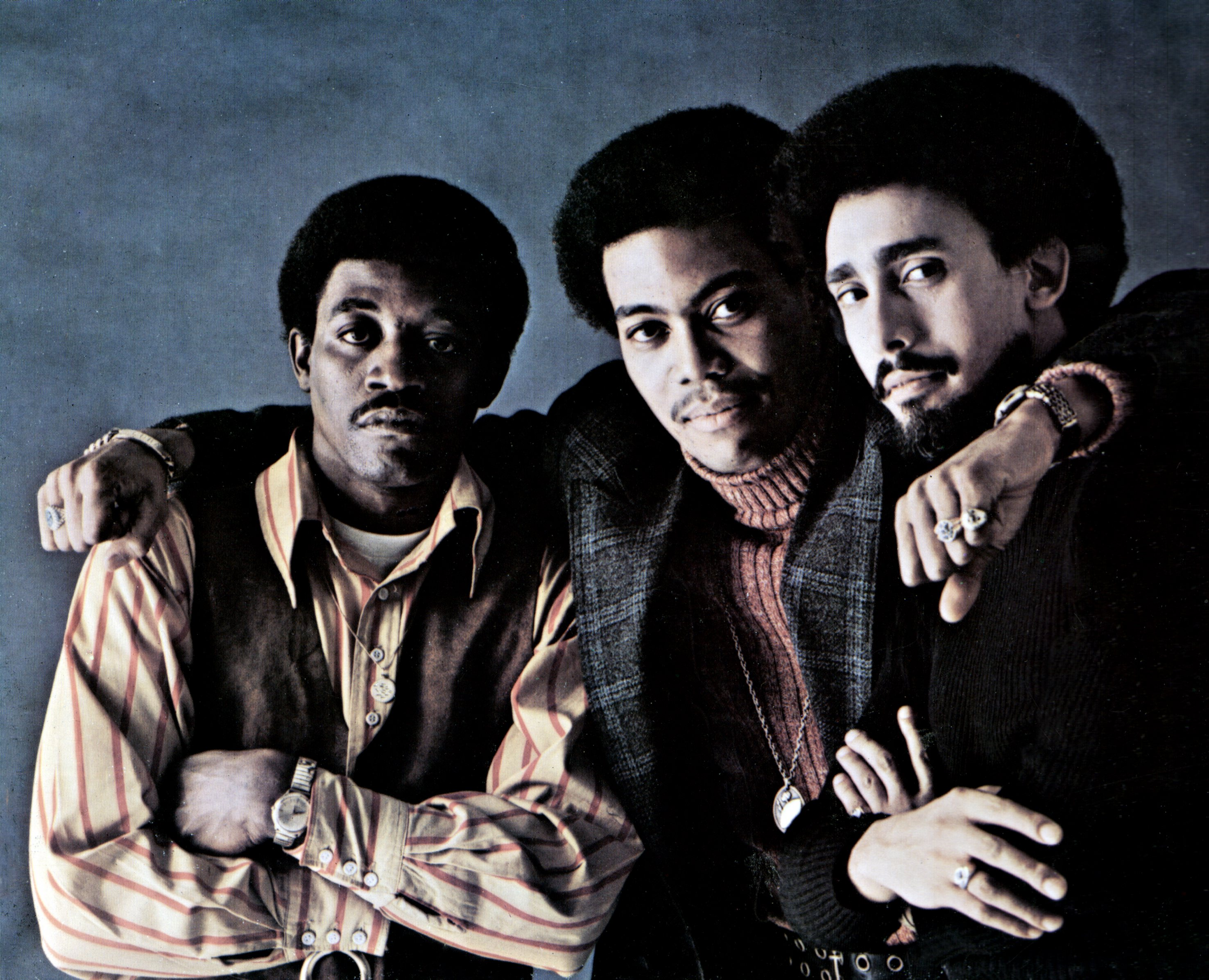 Cuba Gooding Sr., center, is pictured with Luther Simmons, left, and Tony Silvester of the Main Ingredient in 1974
