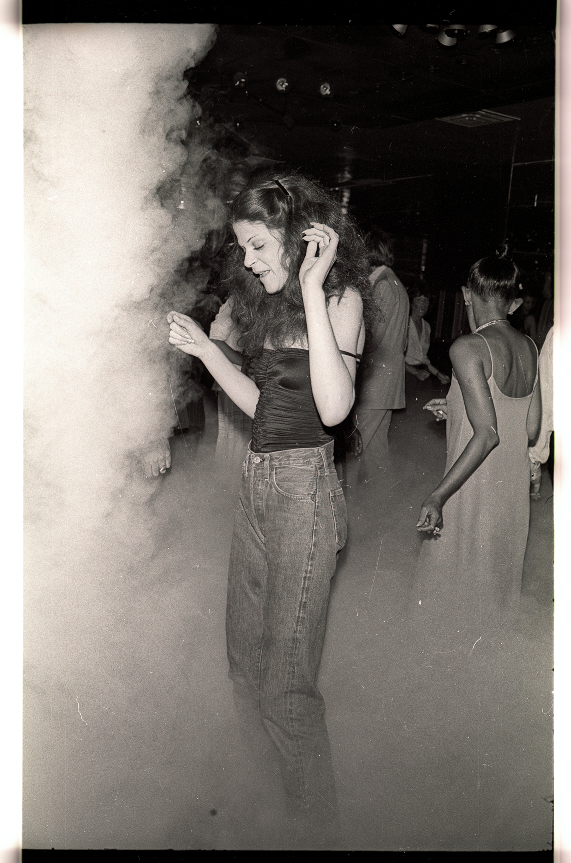 Gilda Radner at Studio 54, photographed by Gene Spatz.