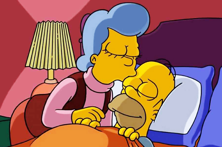 """<b>Glenn Close:</b> Close voiced Homer's mother, Mona Simpson, in six episodes. Her first appearance in """"Mother Simpson"""" was in 1995, when Homer fakes his own death, and her most recent appearance was in the 2014 episode """"The Yellow Badge of Cowardge."""""""
