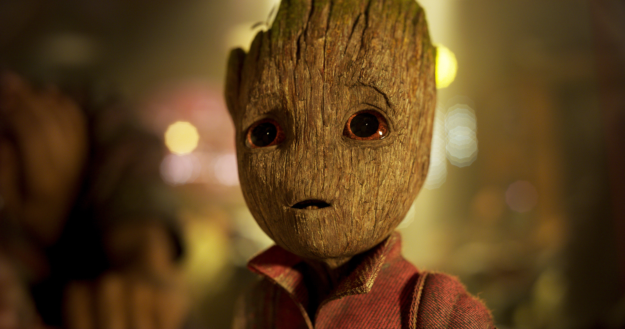 Groot, voiced by Vin Diesel in Guardians Of The Galaxy Vol. 2.
