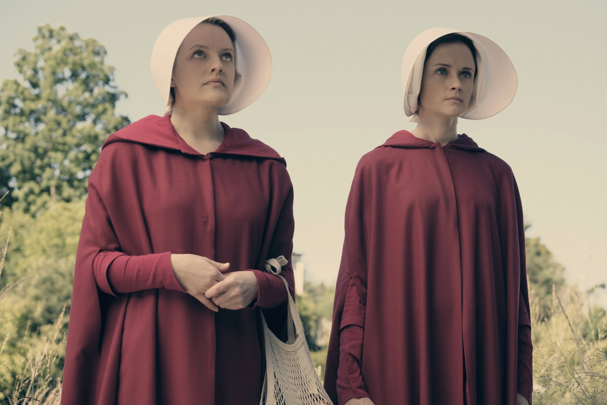 Elisabeth Moss and Alexis Bledel in The Handmaid's Tale.