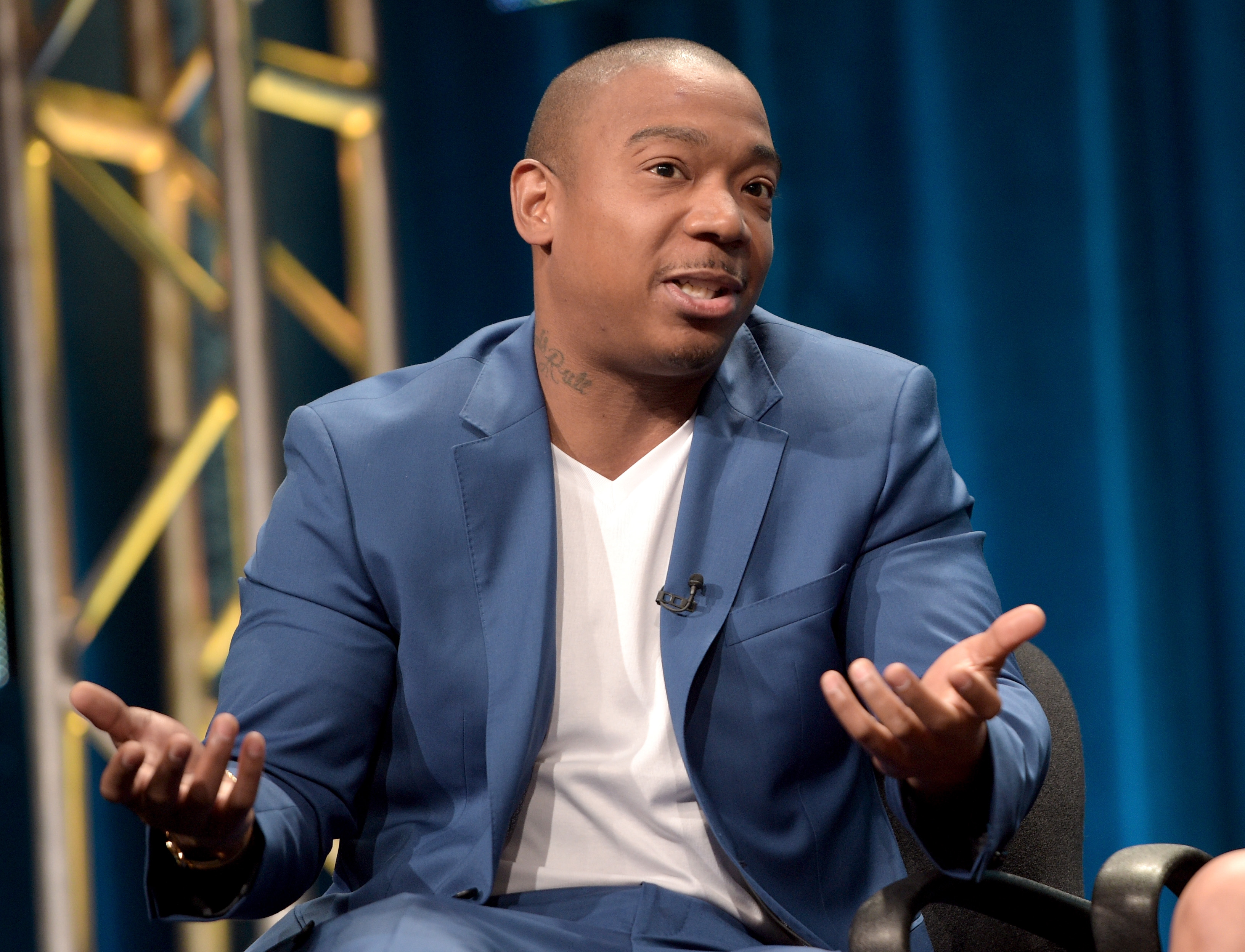 Ja Rule, co-owner of the Fyre Festival, speaks onstage during the 'Follow The Rules' panel at the Viacom TCA Presentation at The Beverly Hilton Hotel on July 29, 2015 in Beverly Hills, California.