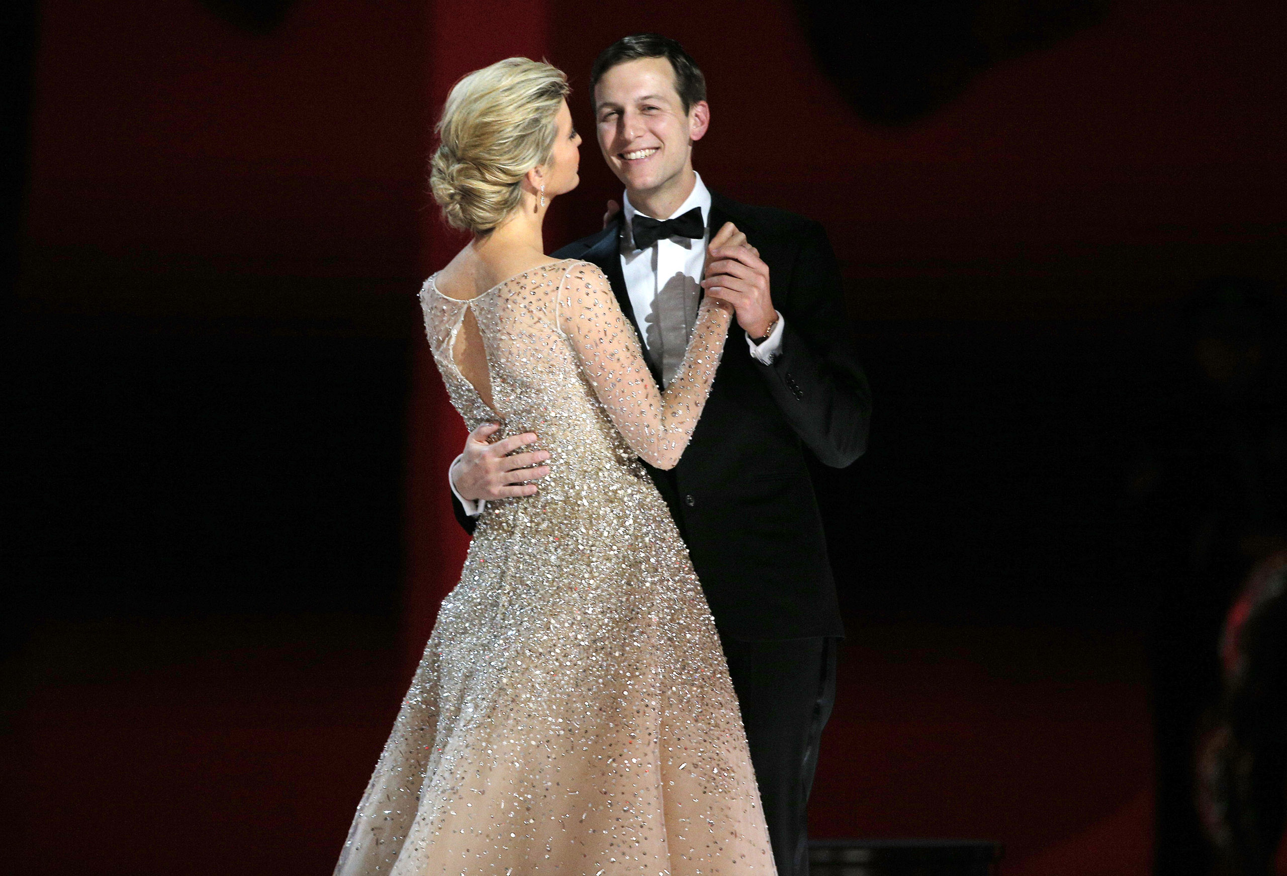 Jared Kushner dances with his wife Ivanka Trump at  U.S. President Donald Trump's  Liberty  Inaugural Ball in Washington, D.C., Jan. 20, 2016.